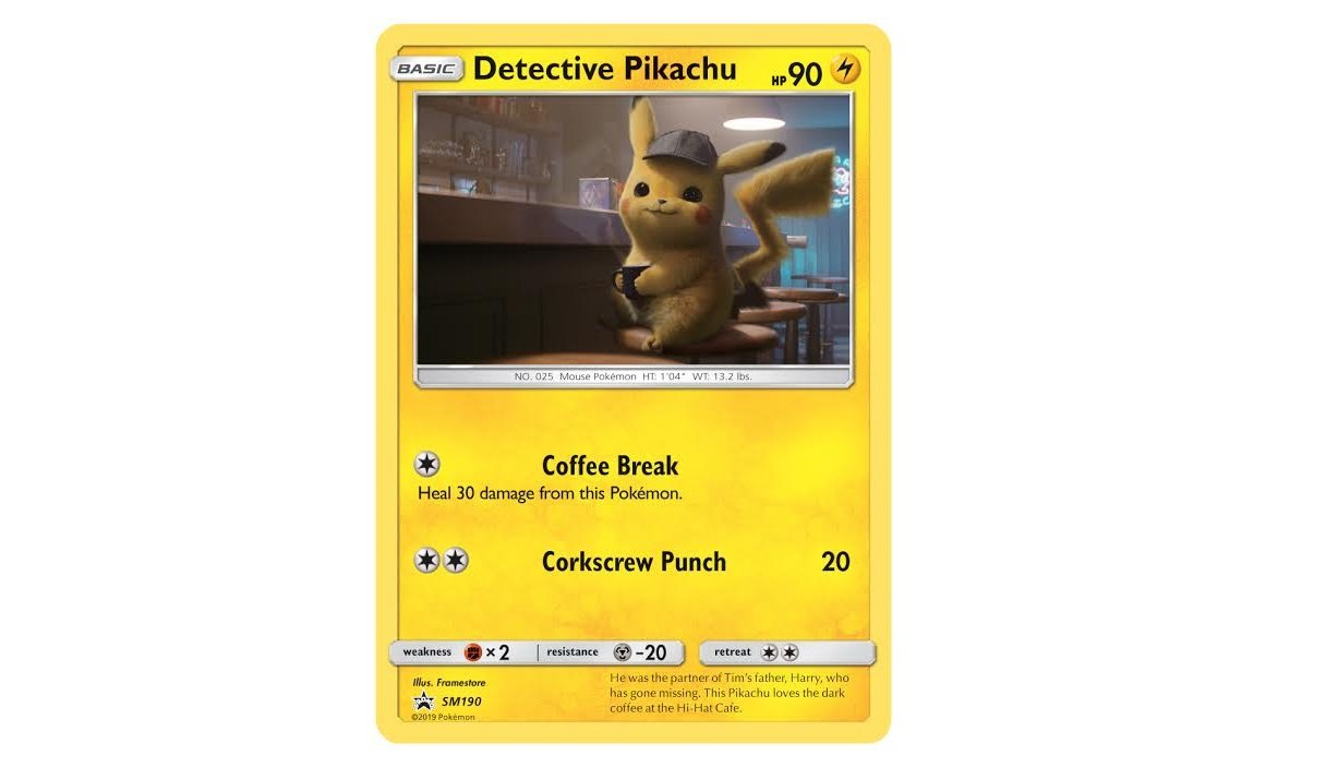 Moviegoers will have an opportunity to get their hands on exclusive promo cards for Detective Pikachu.