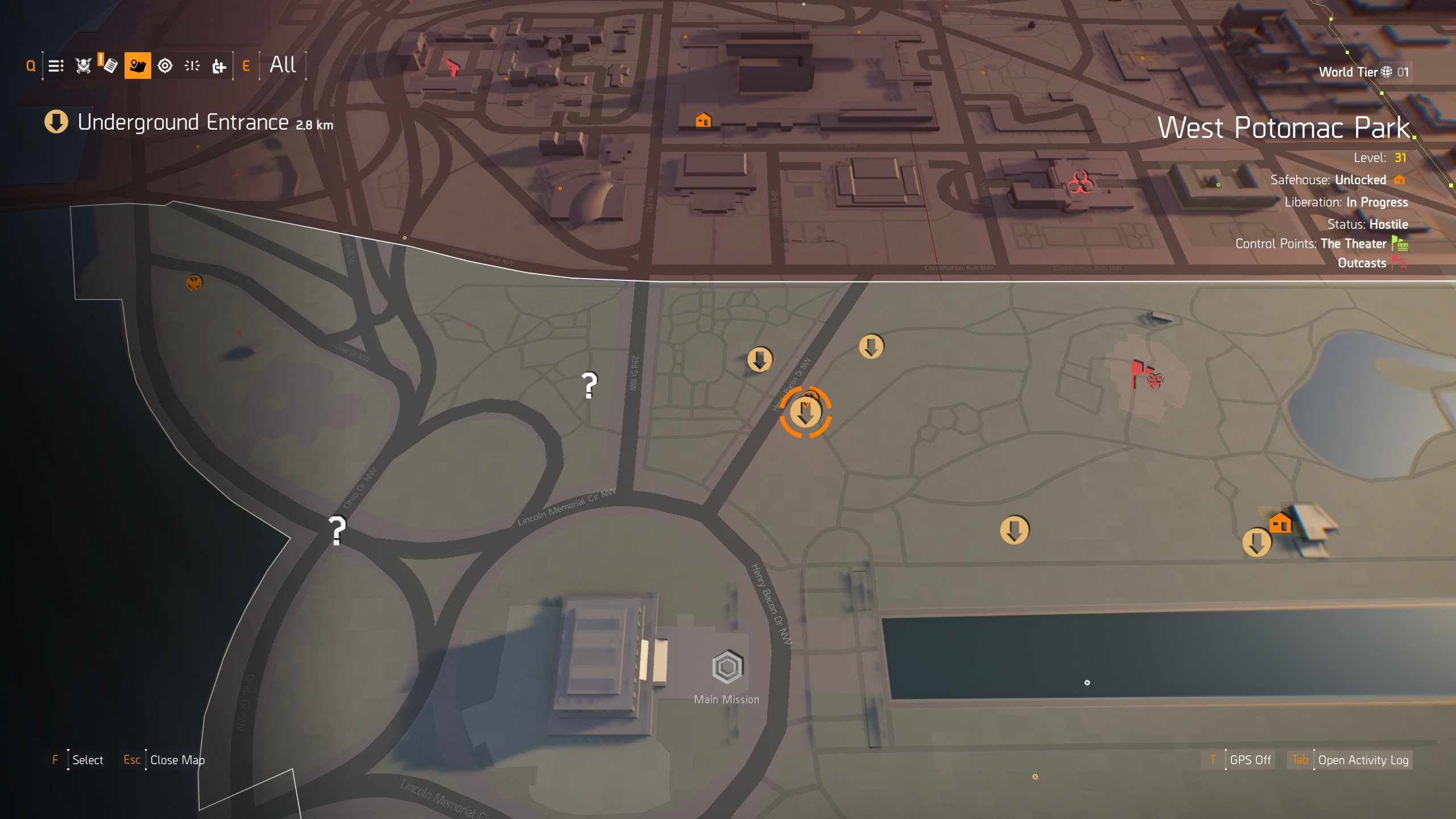 Where to find the Ghoul Mask in The Division 2 - Location 1