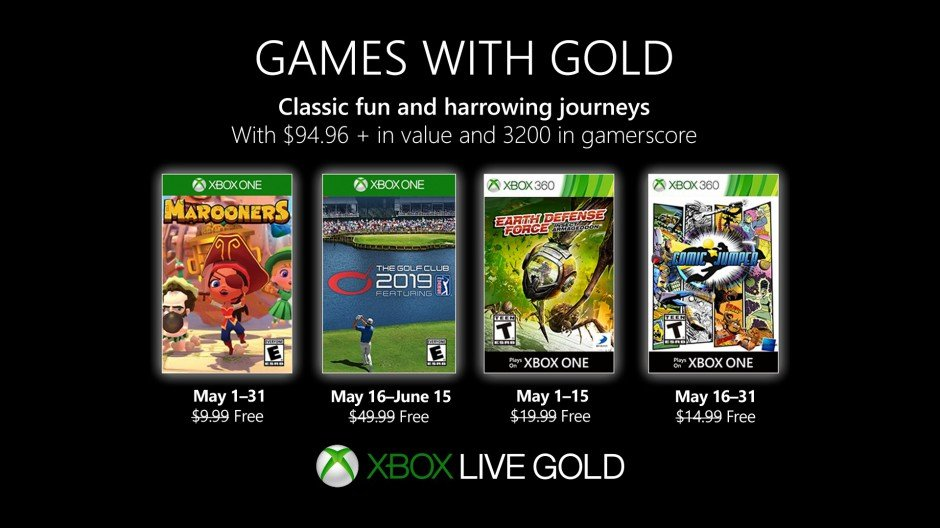 Xbox Games with Gold May lineup