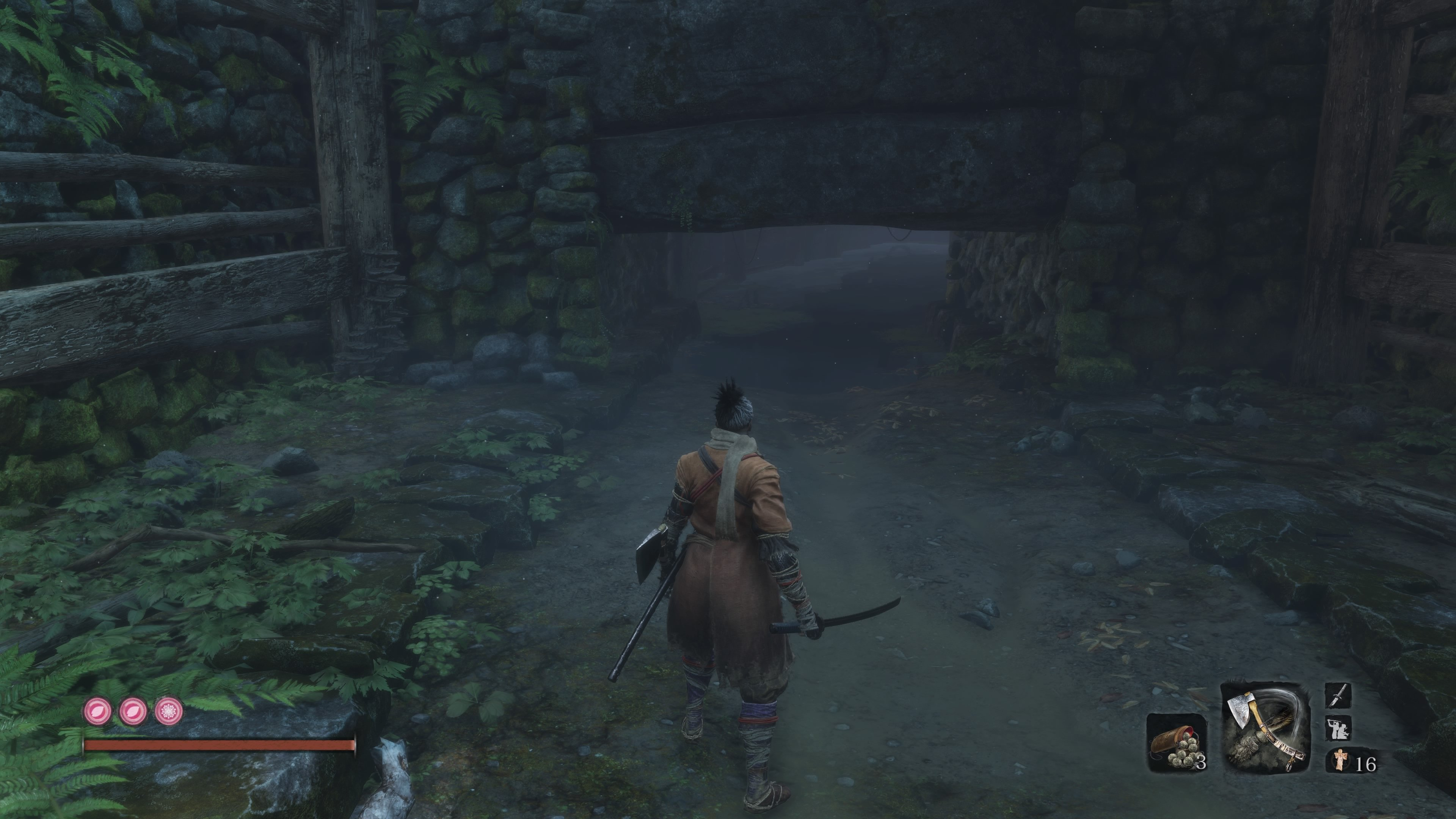 Where to dive underwater in Sekiro - Ashina Castle
