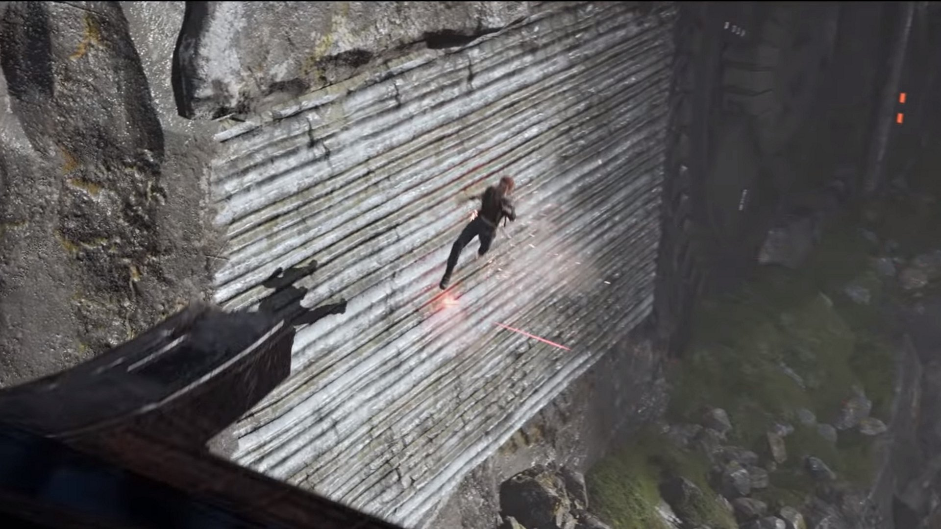 Wall running is definitely making an appearance in Star Wars Jedi: Fallen Order
