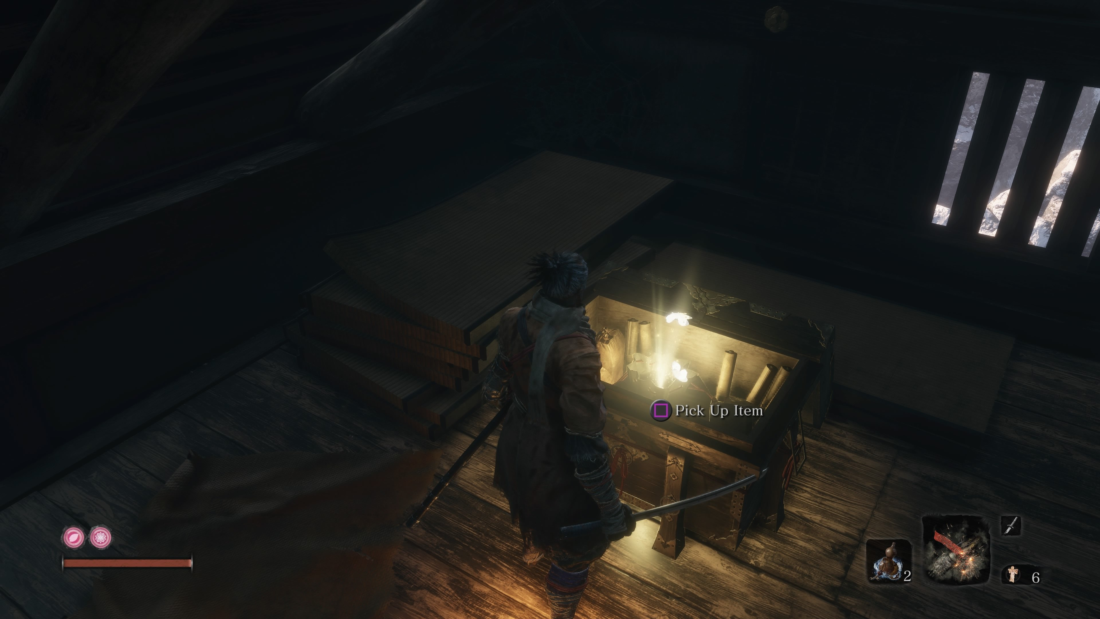Climb the temple containing the Tengu of Ashina to find another Prayer Bead in a chest.