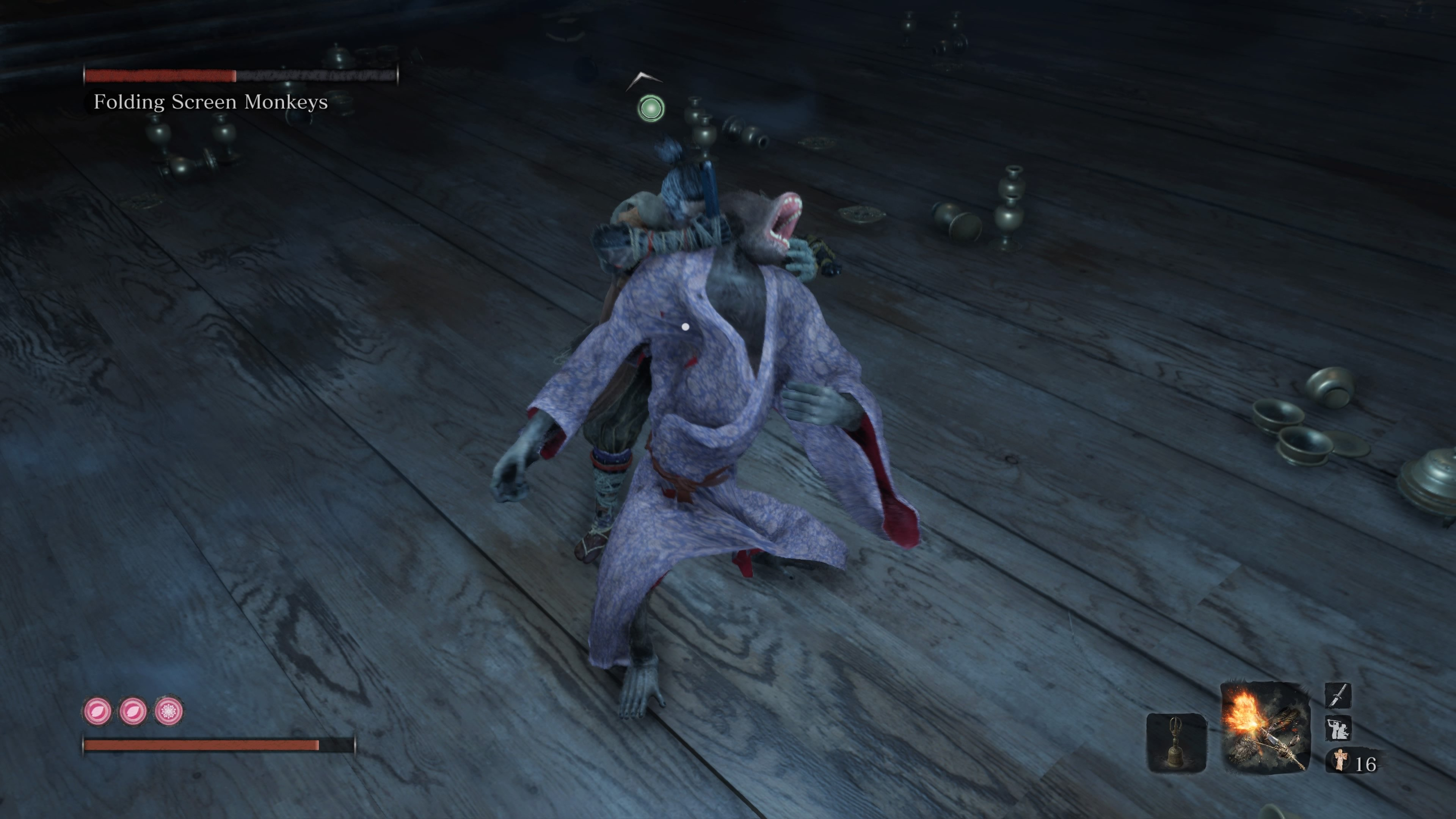 How to catch the purple kimono folding screen monkey sekiro