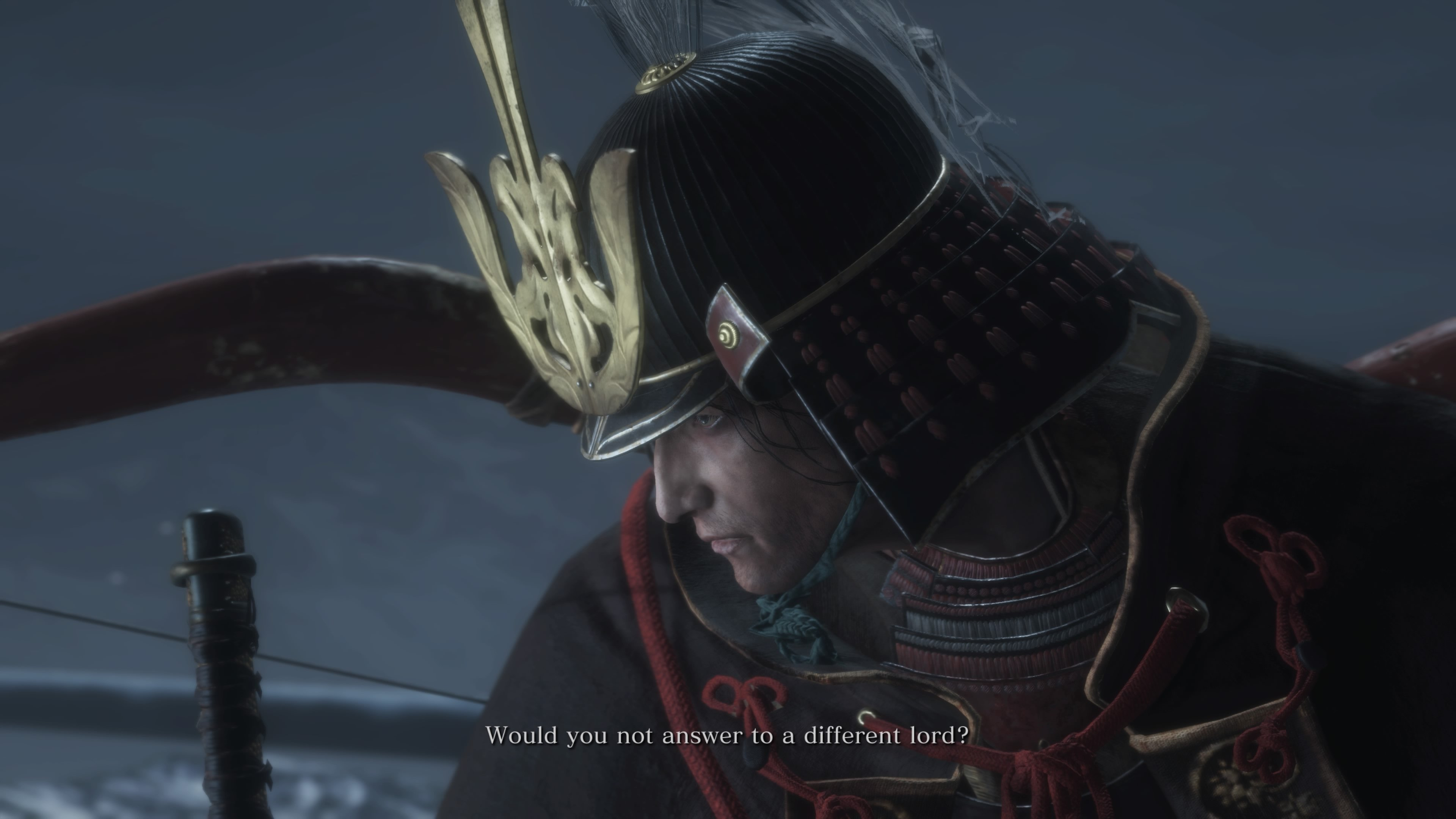 How to beat the Genichiro Ashina boss fight in Sekiro: Shadows Die Twice - Genichiro Ashina speak to Wolf
