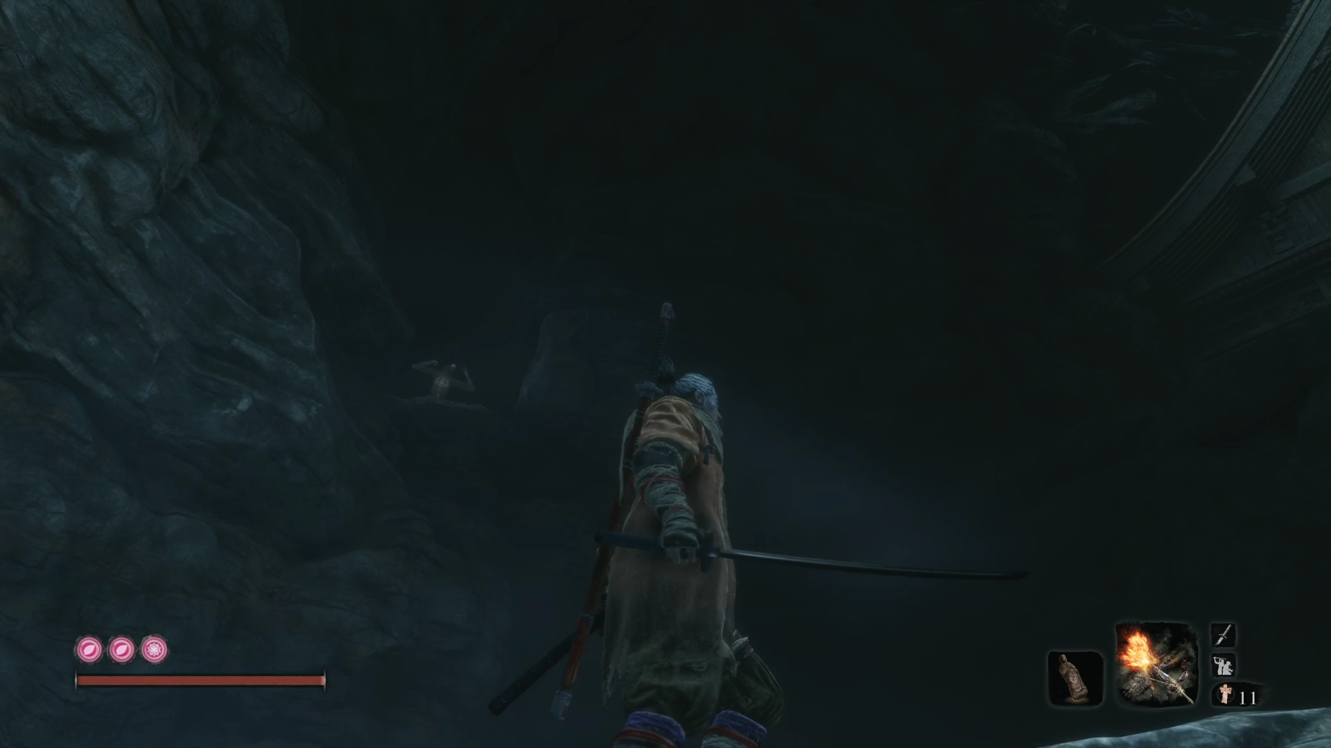 How to get past Giant Snake in cave Sekiro: Shadows Die Twice - Make the monkey dance