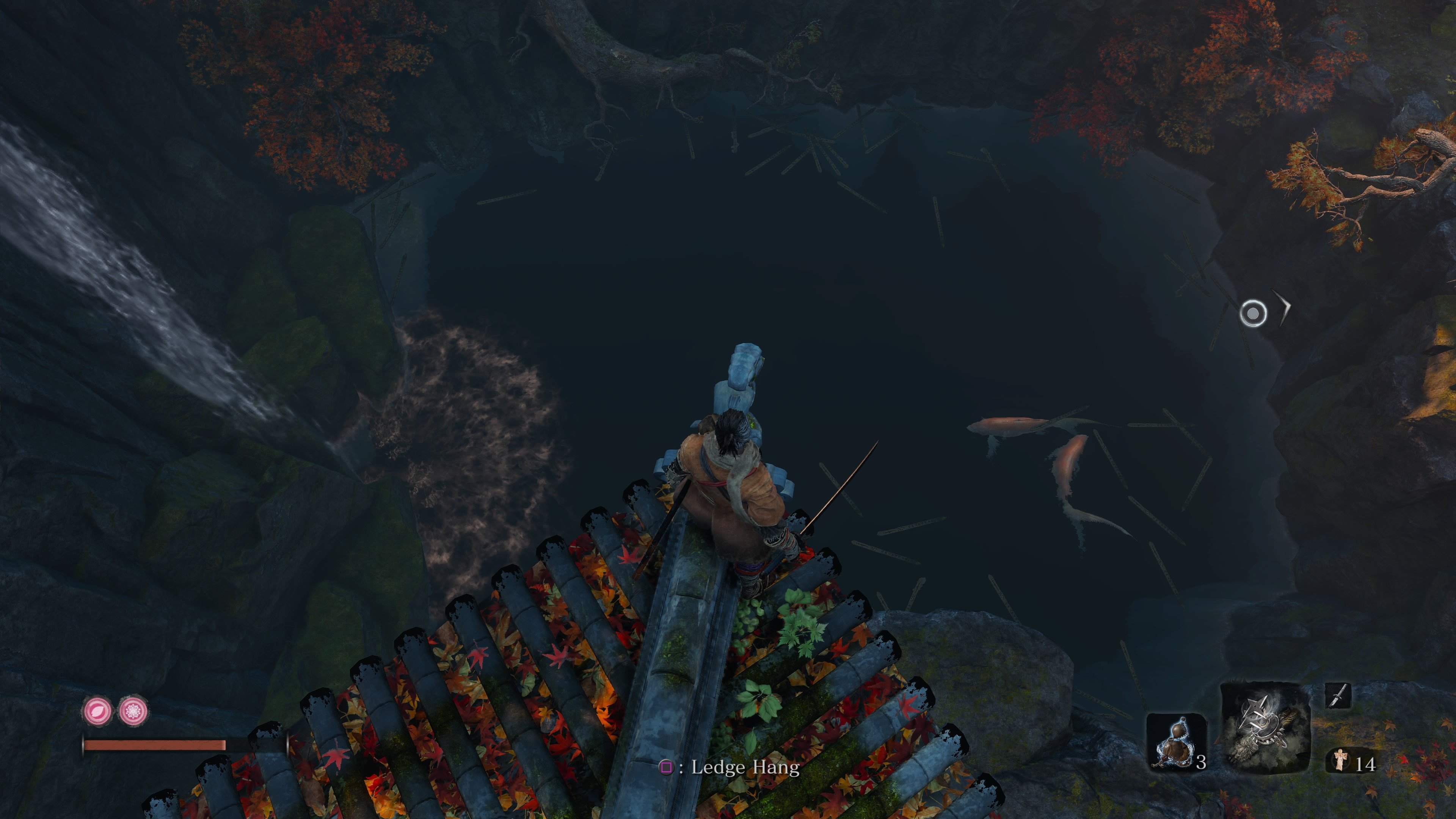 Senpou Temple Treasure Carp Scale location in Sekiro