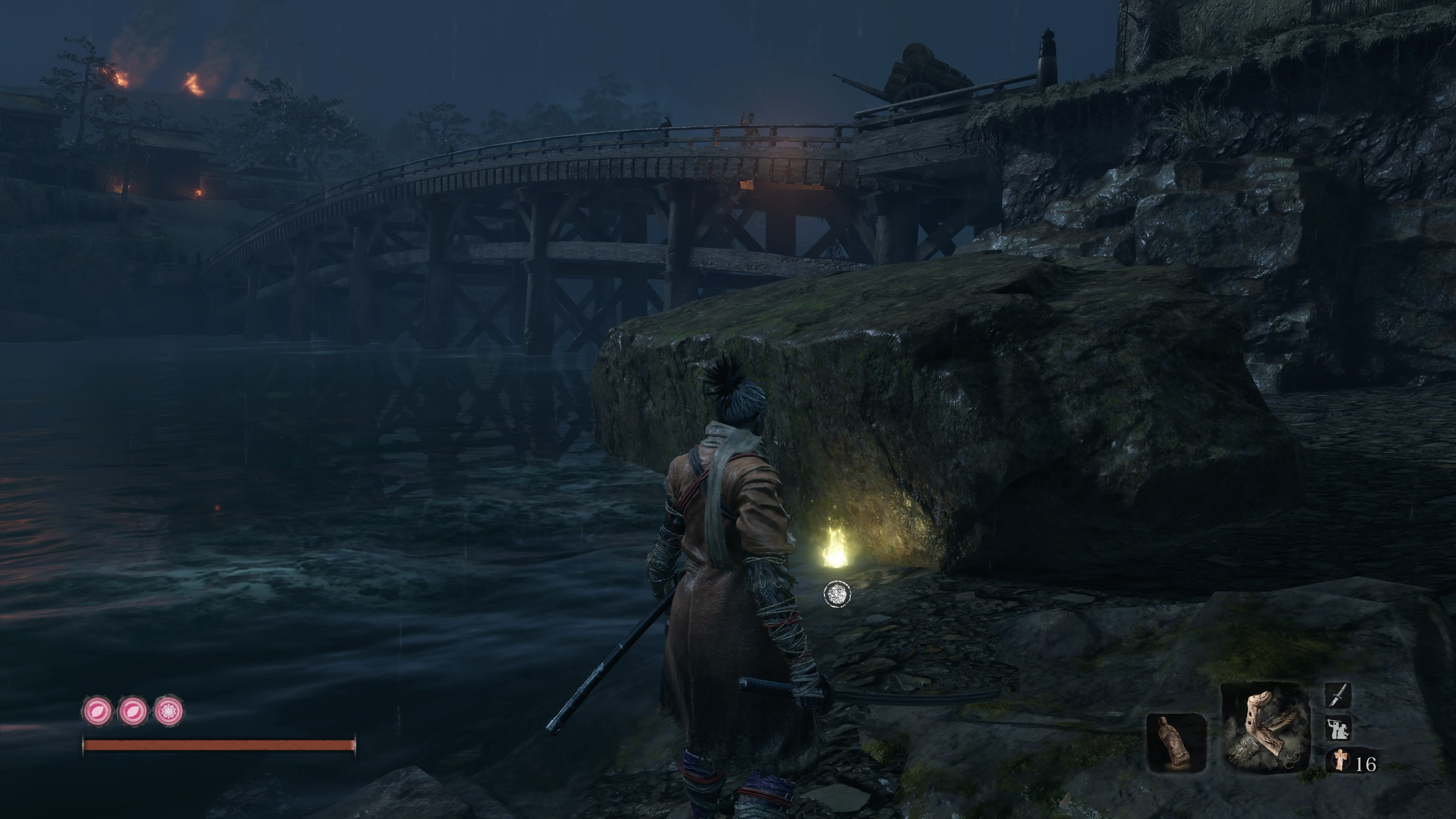 Treasure Carp Scale location in Hirata Estate, Sekiro