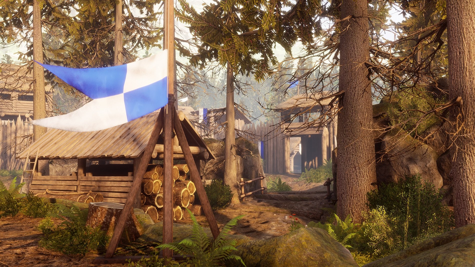 To build a Ballista in Mordhau, you'll either need to select the Engineer class or equip a Toolbox to your fighter's loadout. After scouting a safe spot, press R to cycle through building options and select Ballista to begin the build process. To speed up your build, you can equip a Blacksmith's Hammer and put points in the Smith perk.