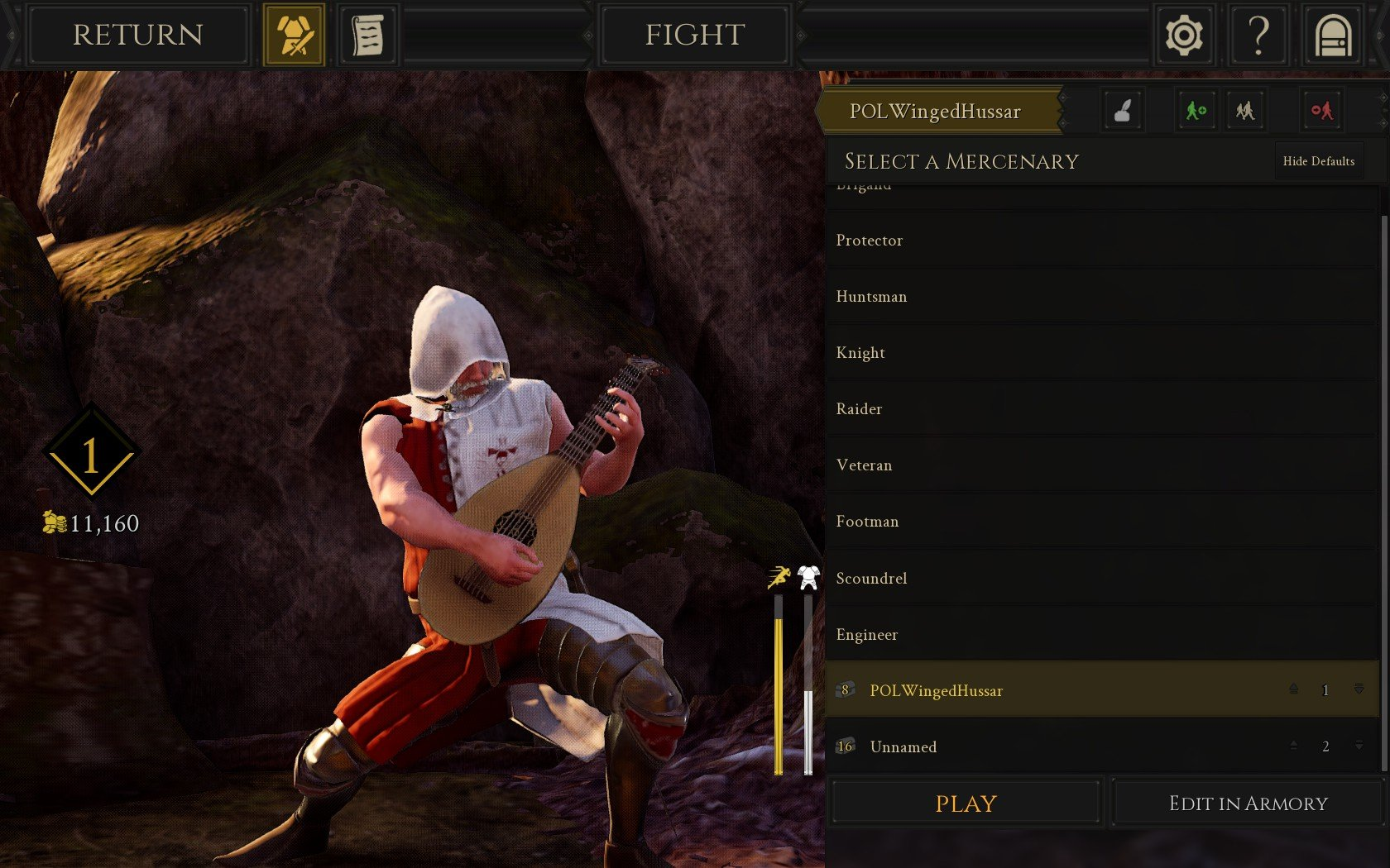 Customization screen - How to use the Lute in mordhau