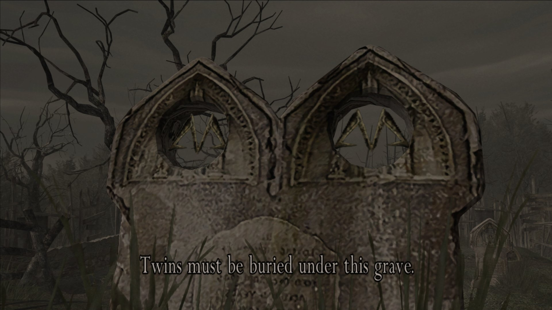 Cemetery puzzle solution in Resident Evil 4