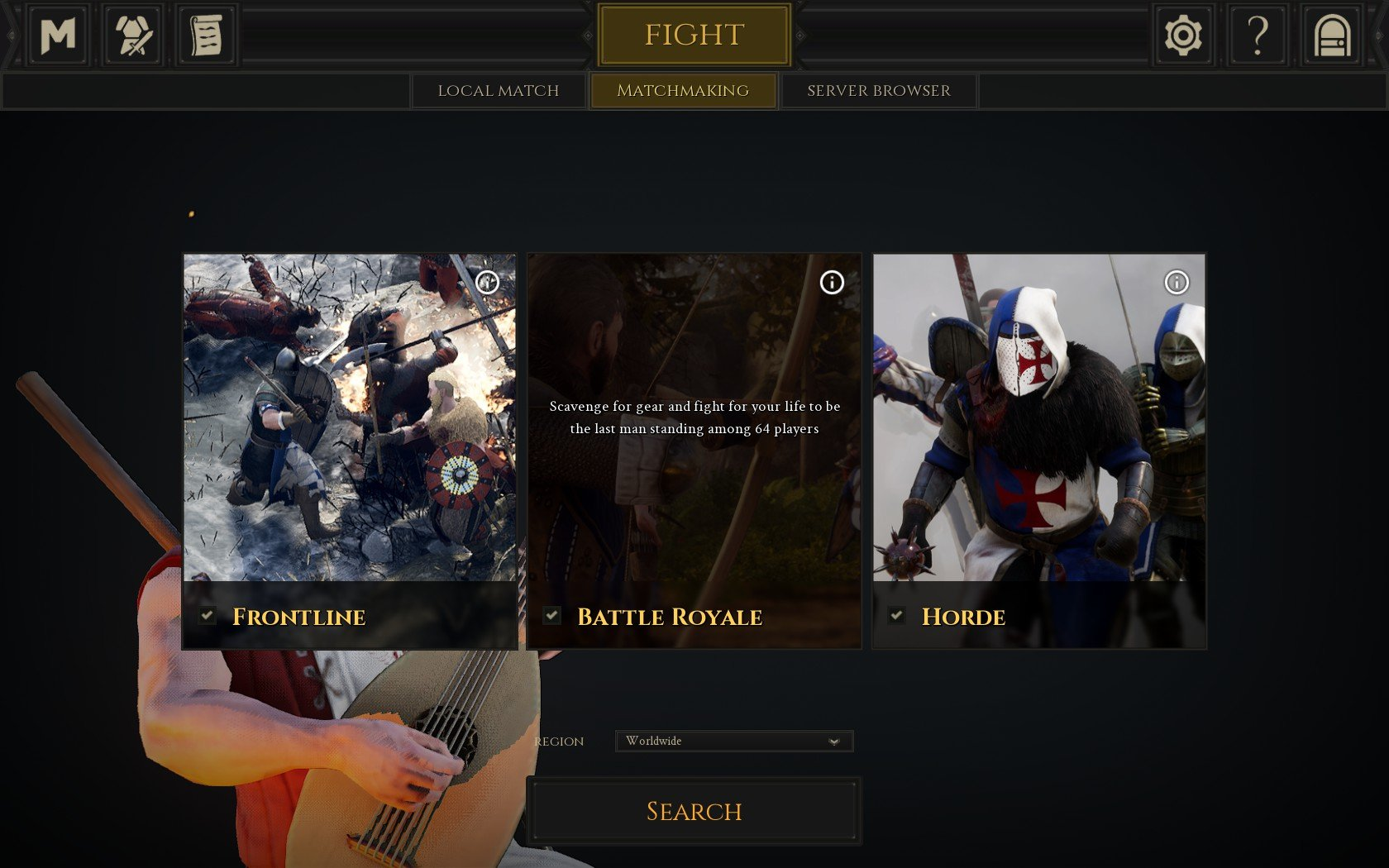 The Battle Royale game mode works similarly to other Battle Royale games in that 64 players will fight to become the last player standing in Mordhau.