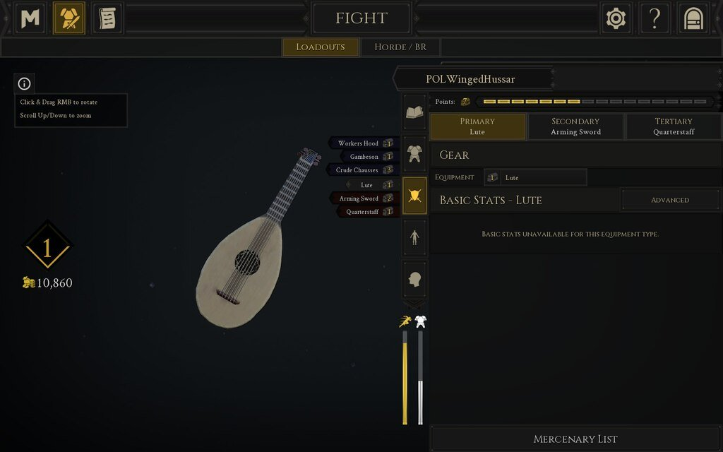 How to equip the Lute in Mordhau