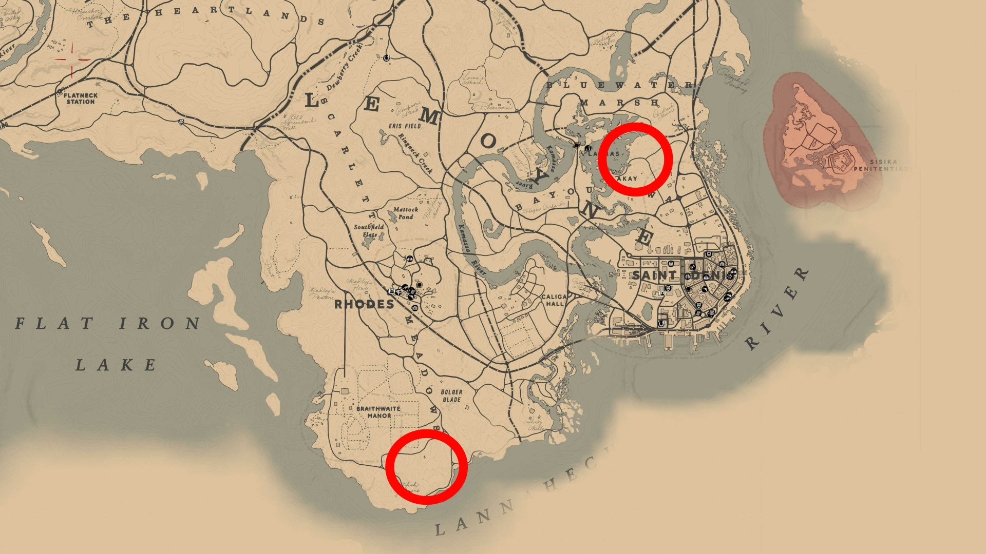 Where to find Panthers in RDR2
