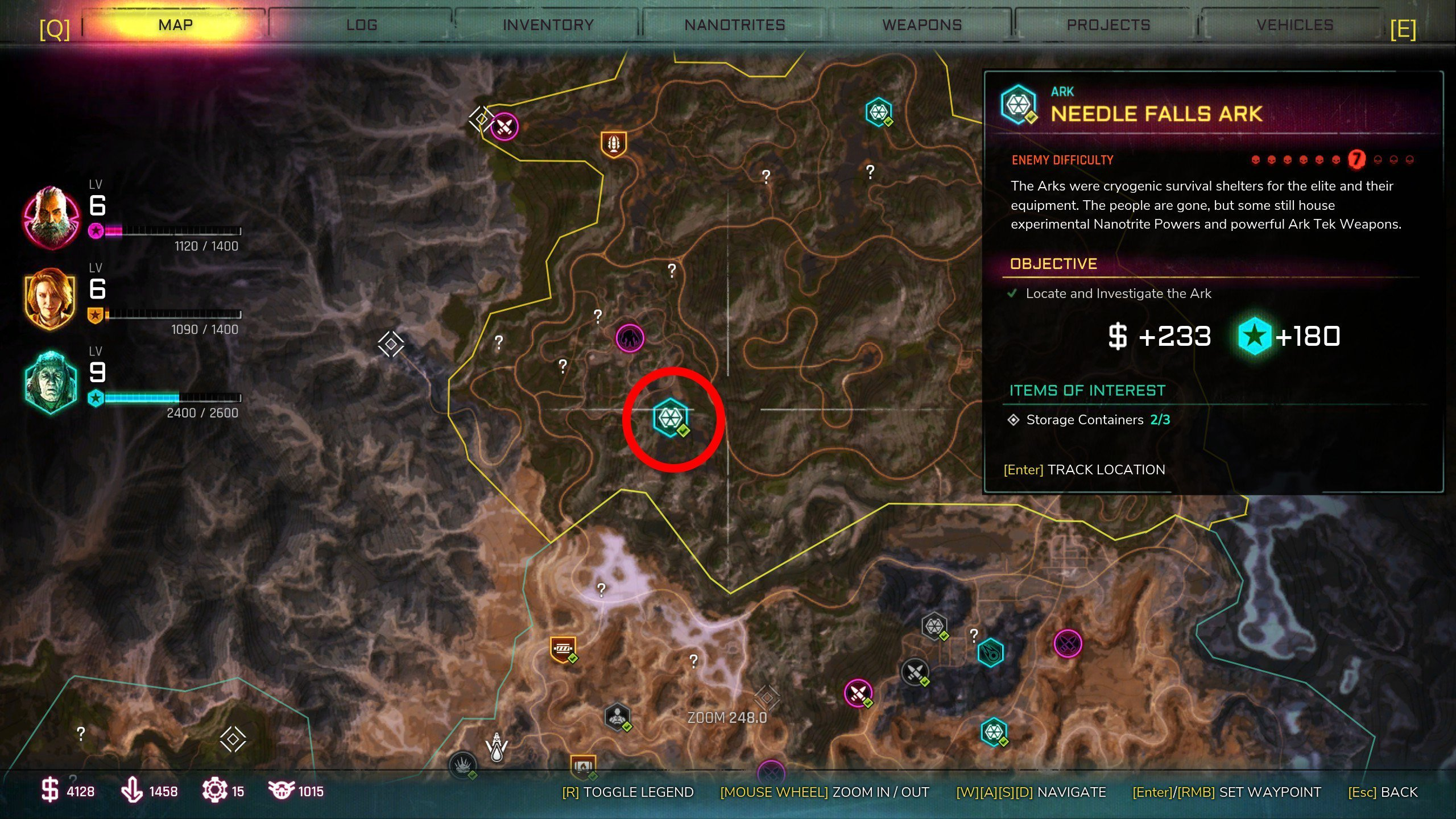 Needle Falls Ark - Where to find Arks in Rage 2