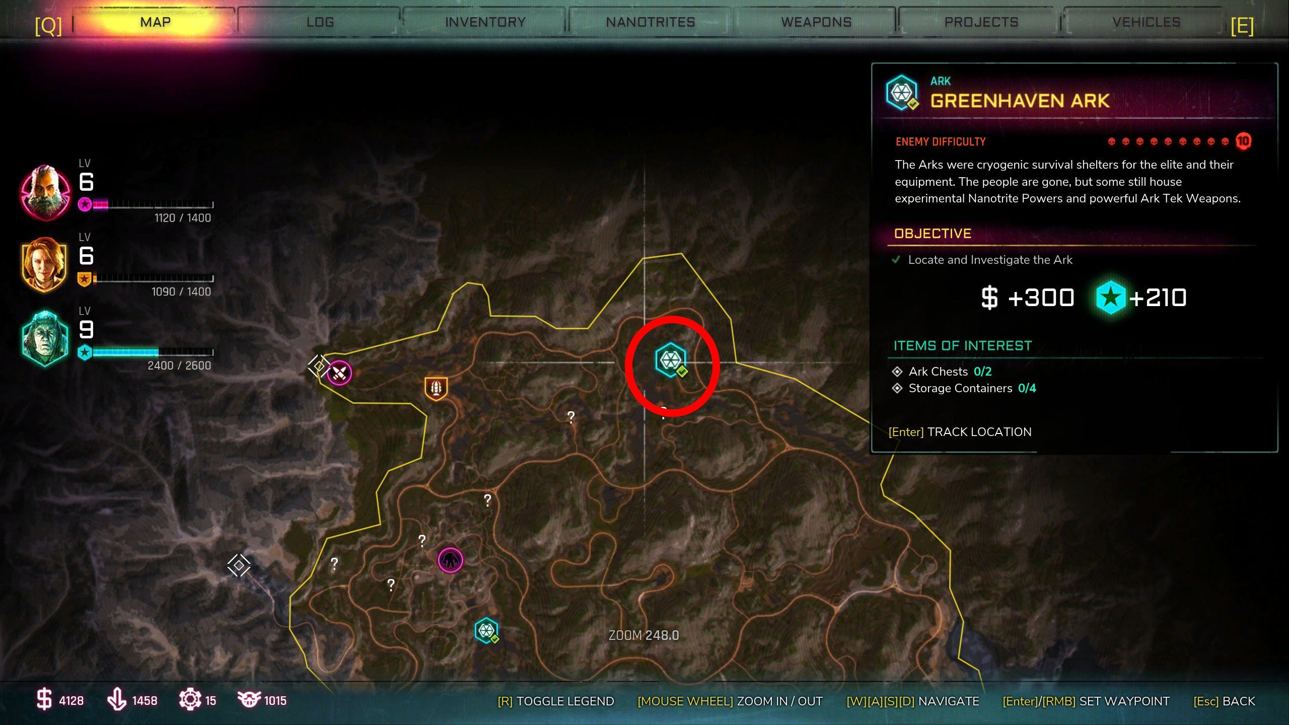 Greenhaven Ark location - All Arks in Rage 2