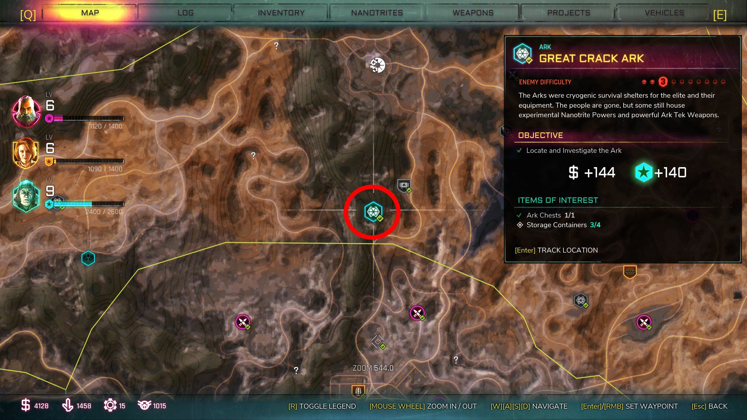 Great Crack Ark Location in Rage 2