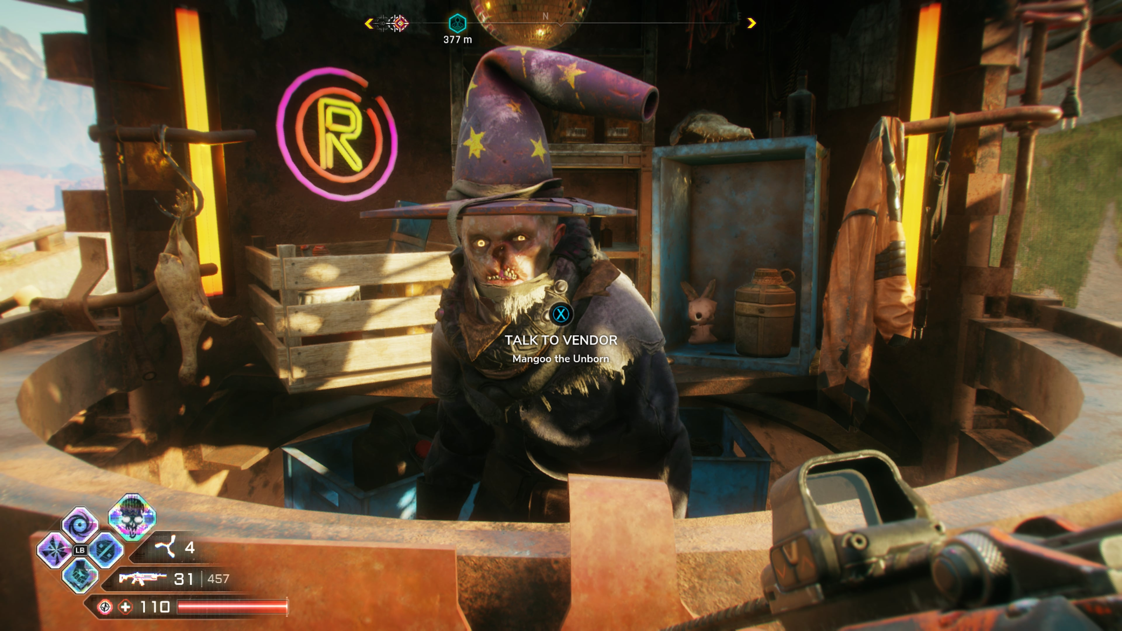 Cheat codes can be purchased from Mangoo, a vendor known as the Wasteland Wizard in Rage 2.