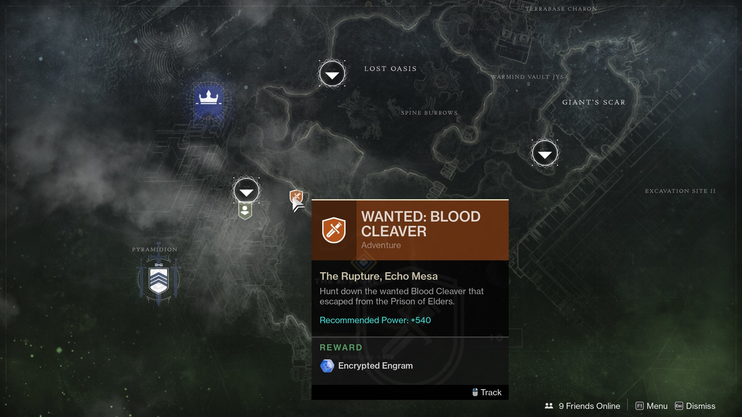 Wanted: Blood Cleaver guide for Destiny 2