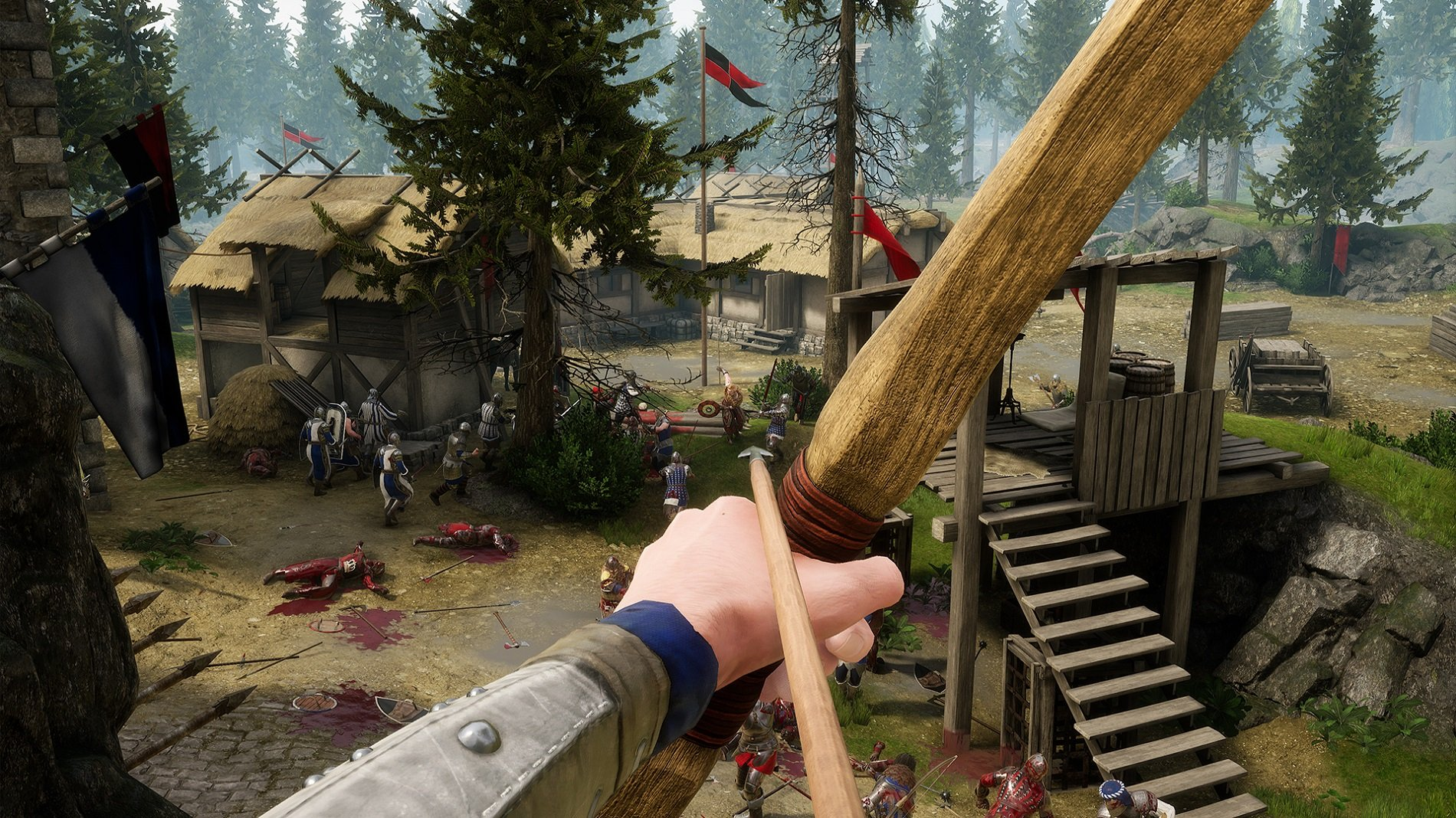 A bow can be a useful weapon to use in Mordhau's Battle Royale mode... just make sure you have another weapon available in your inventory for 1v1 duals.