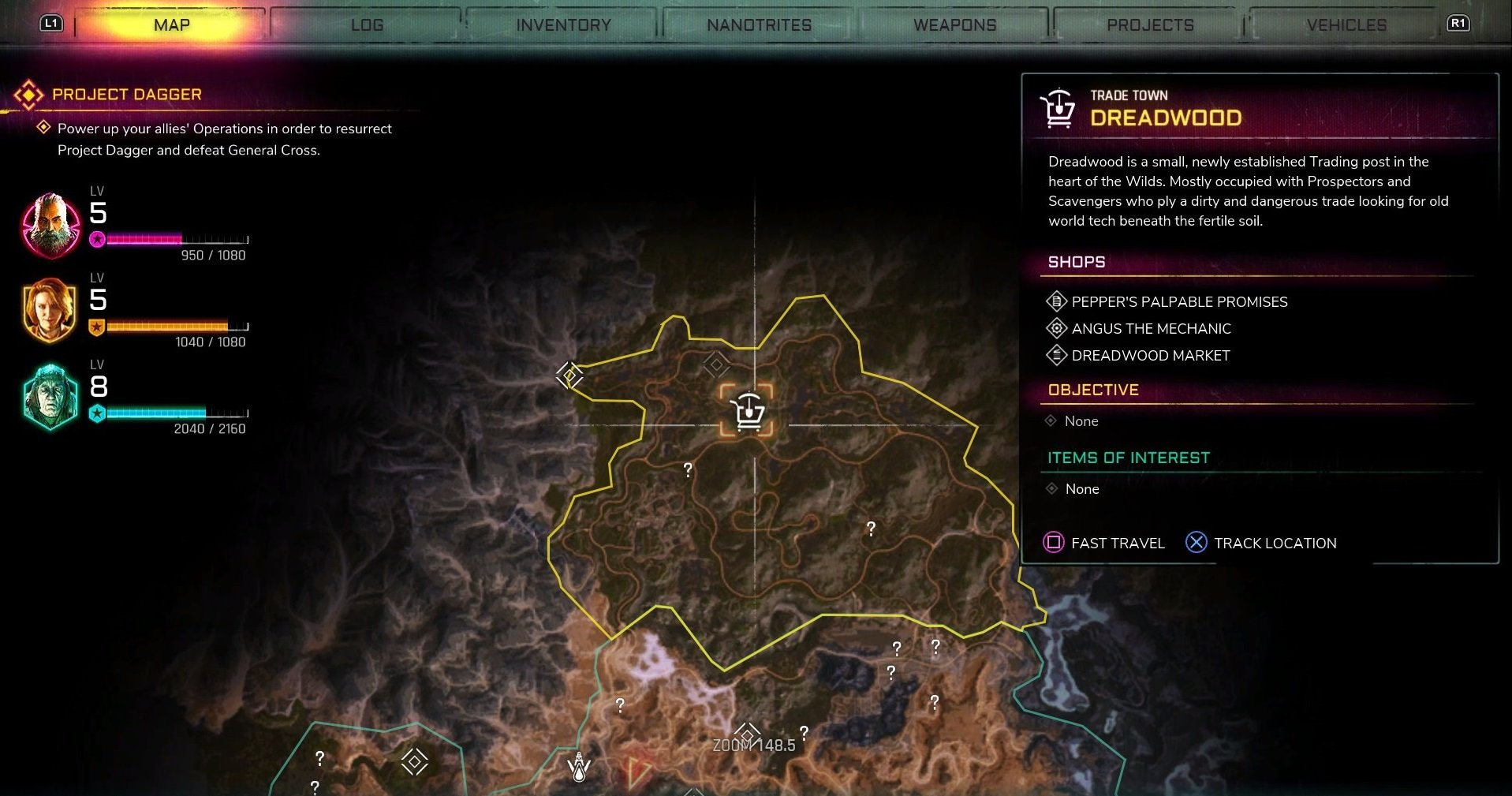 Dreadwood is located in the northern region of The Wilds in Rage 2.