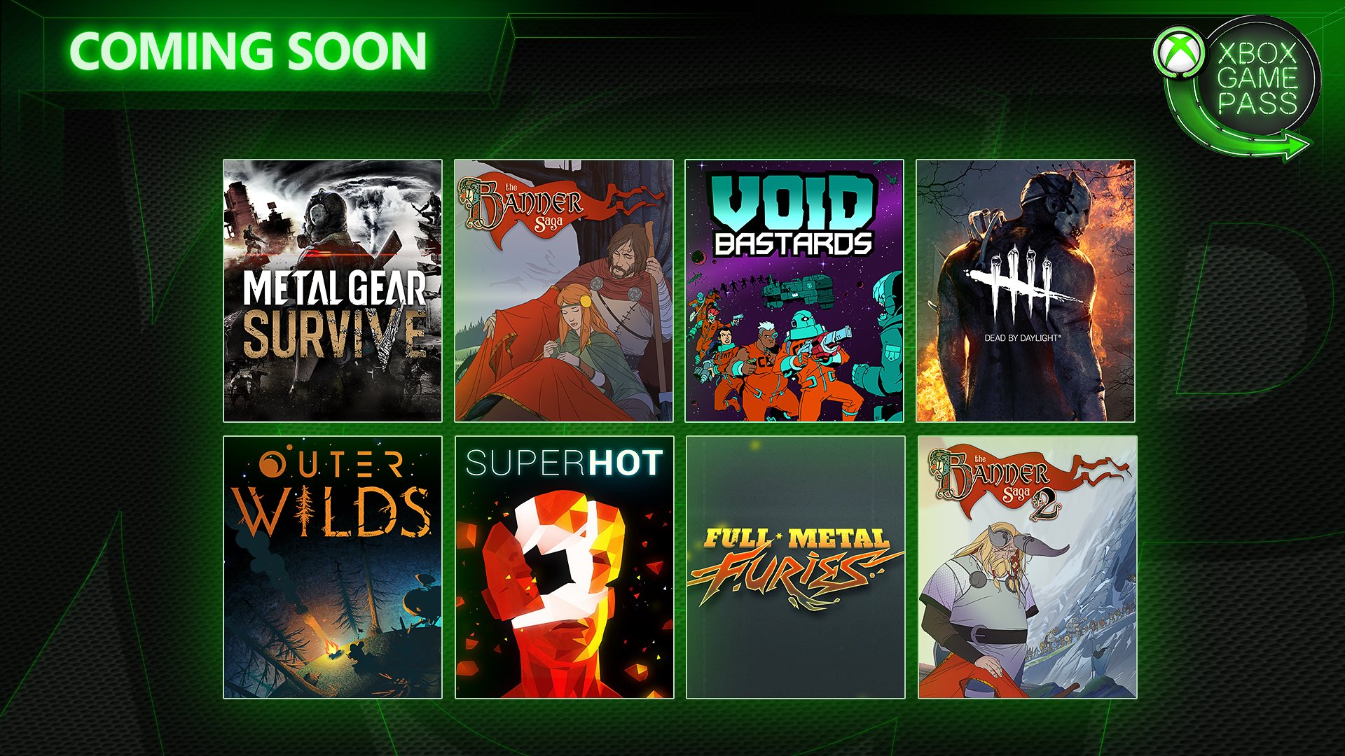 Games like The Banner Saga 2 and Superhot will be available via Xbox Game Pass this June! © Microsoft