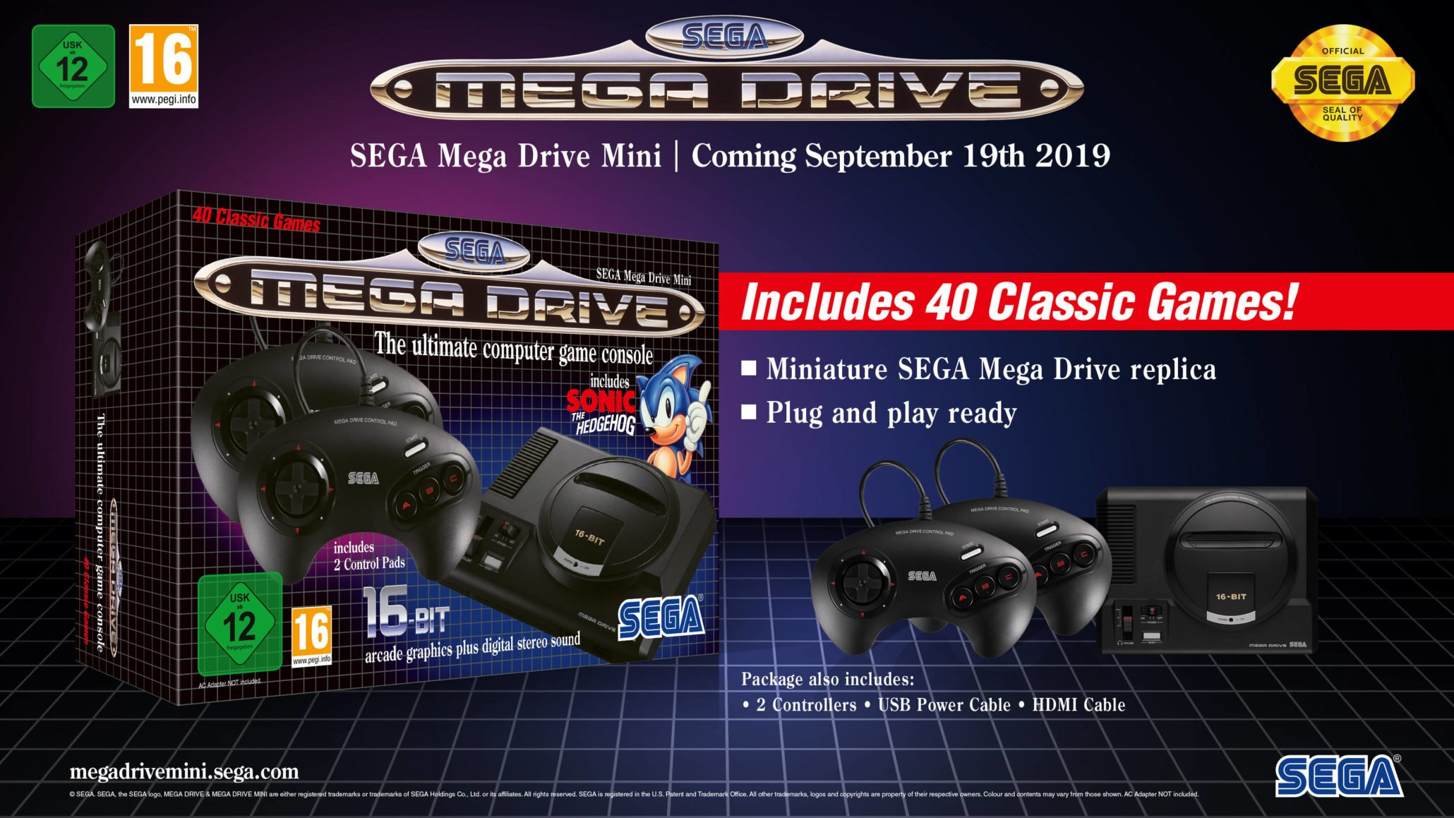 There are 40 classic titles to enjoy in the Sega Genesis Mini.