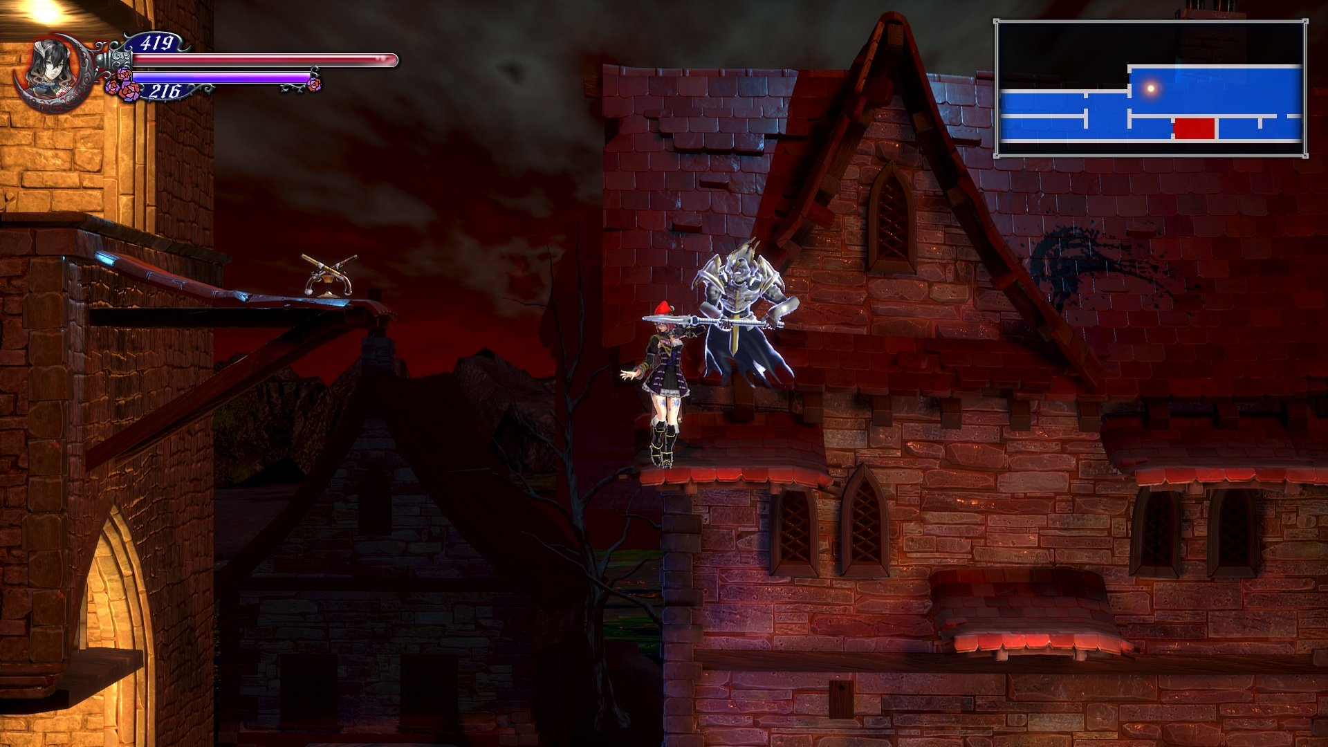 Town Arvantville Fast Travel room in Bloodstained ritual of the night