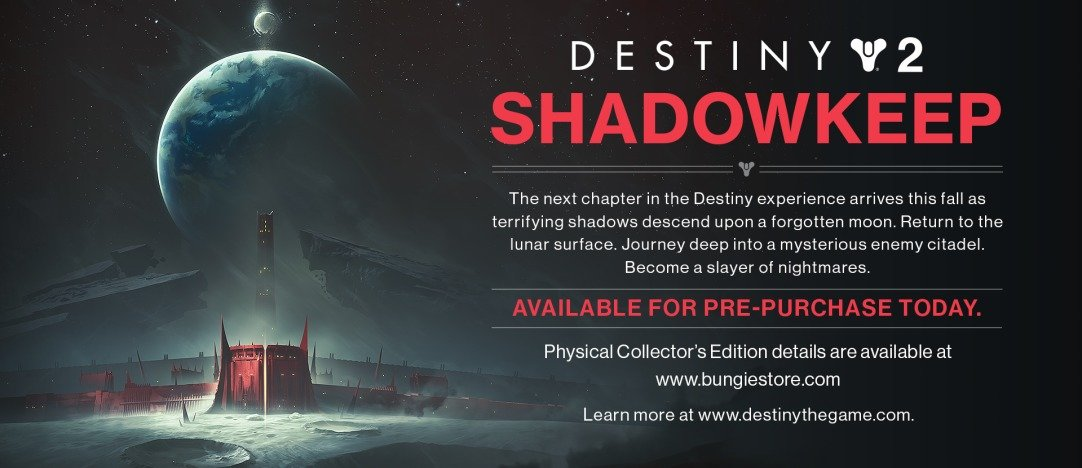 The next DLC expansion for Destiny 2 will reportedly be called Shadowkeep according to an image datamined from Bungie.