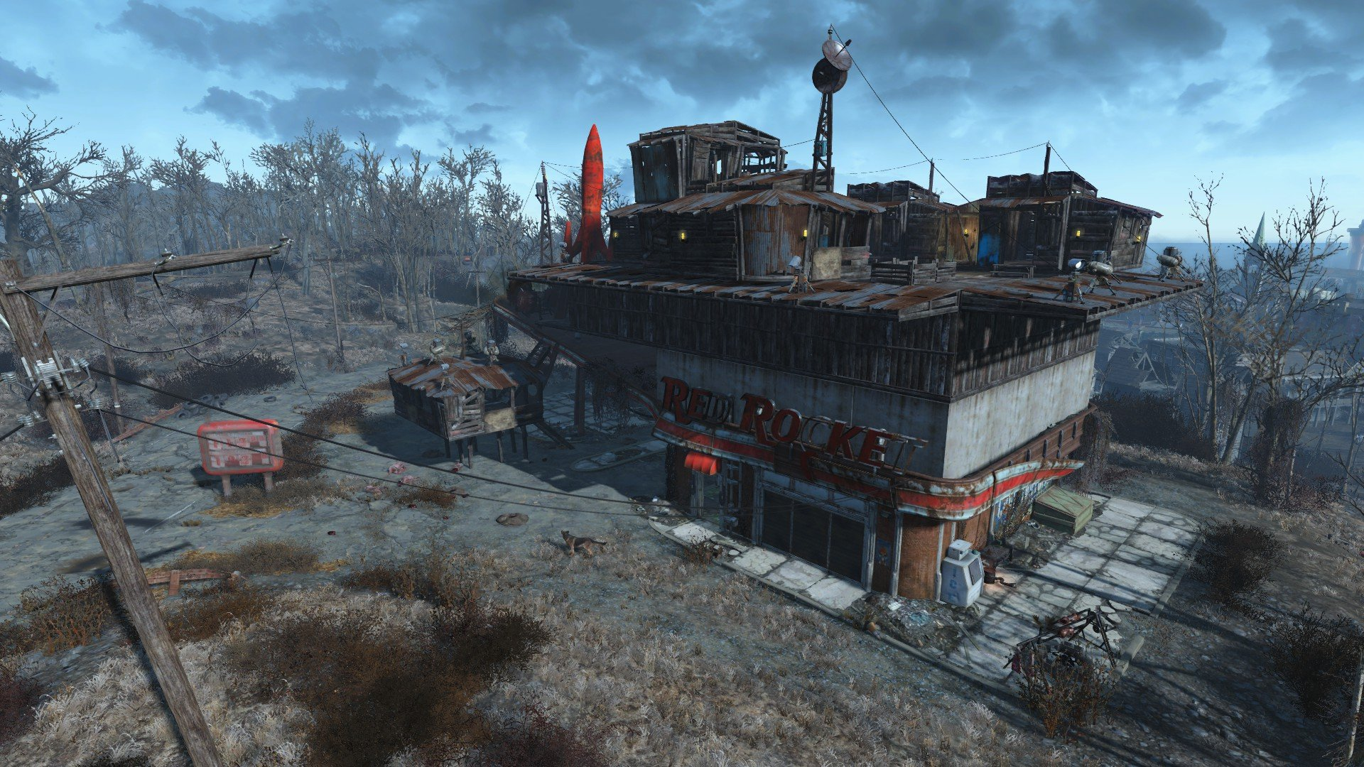 Fallout 4 offers a nuclear wasteland for players to explore, and hazards including radiation.