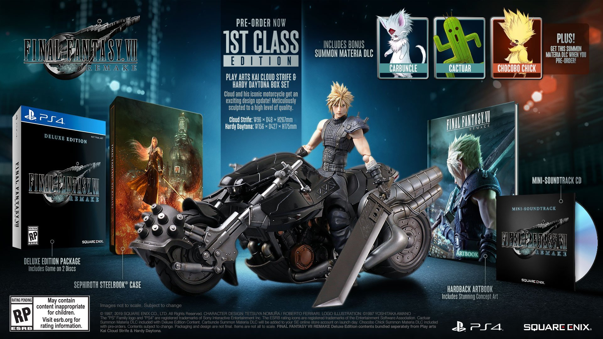 You can pre-order the Final Fantasy 7 Remake right now, including the Collector's Edition which is priced at $330.