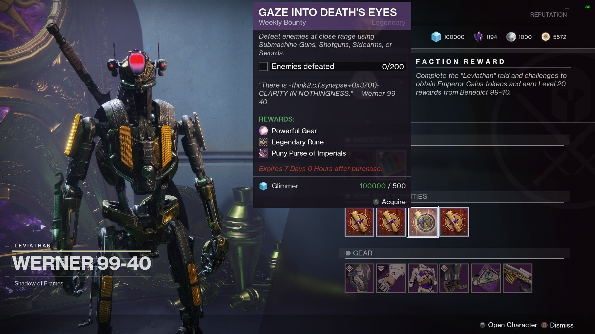 How to get Imperials in Destiny 2 Season of Opulence