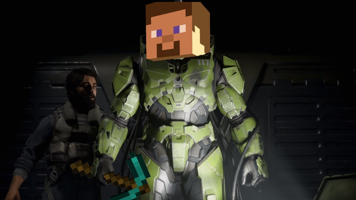 Smash Ultimate DLC Character Master Chief Minecraft Steve