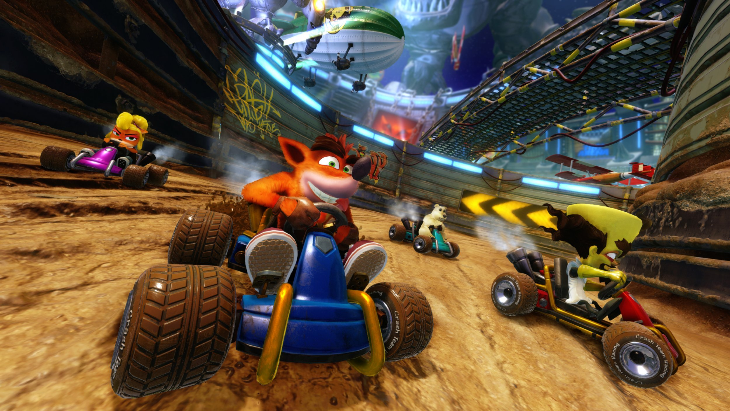 Both local and online multiplayer options are available in Crash Team Racing Nitro-Fueled.