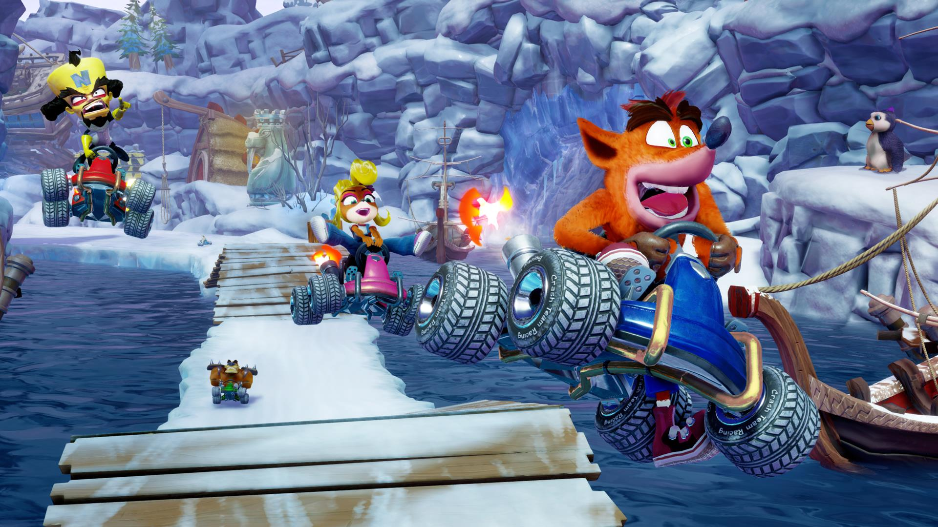You can Power Slide as you enter turns in Crash Team Racing Nitro-Fueled and turn them into a Turbo Boost to help push past opponents.