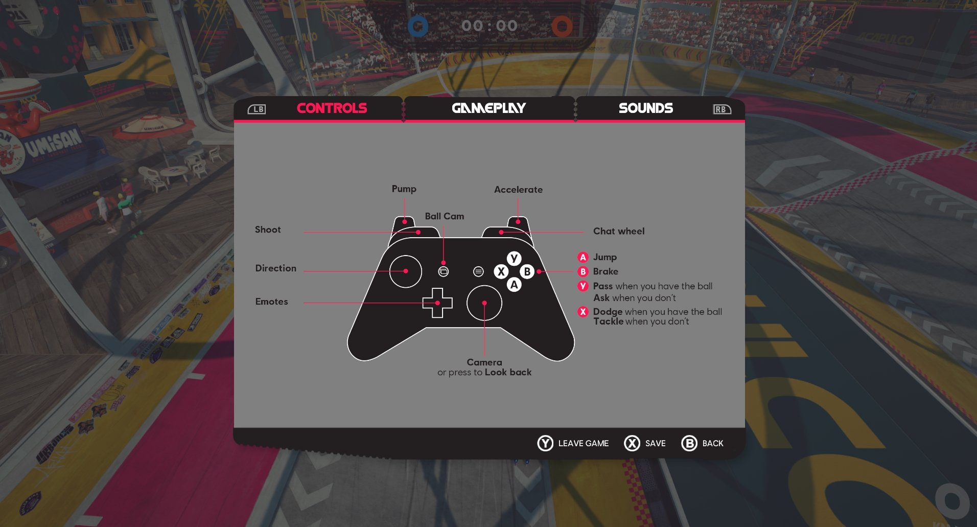Roller Champions controls PS4 and Xbox One