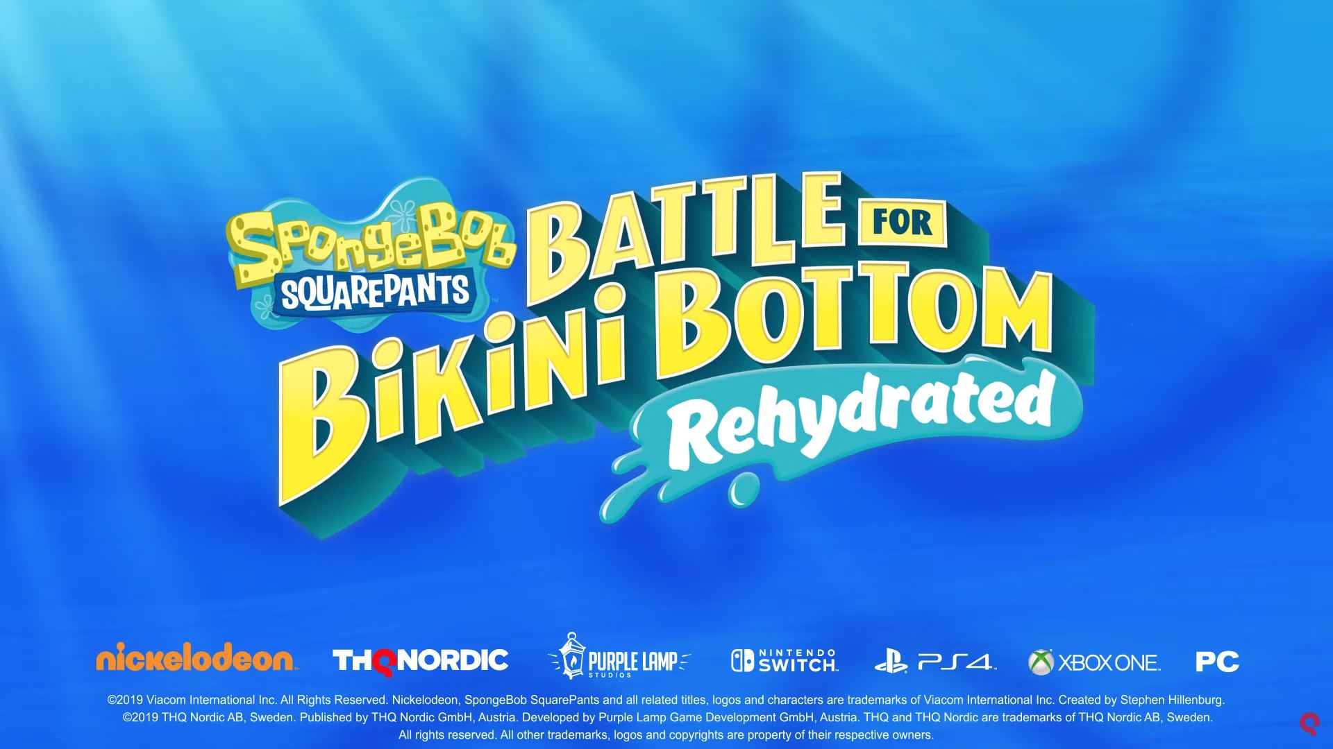 THQ Nordic confirmed one of this week's three releases to be SpongeBob SquarePants: Battle for Bikini Bottom Rehydrated.