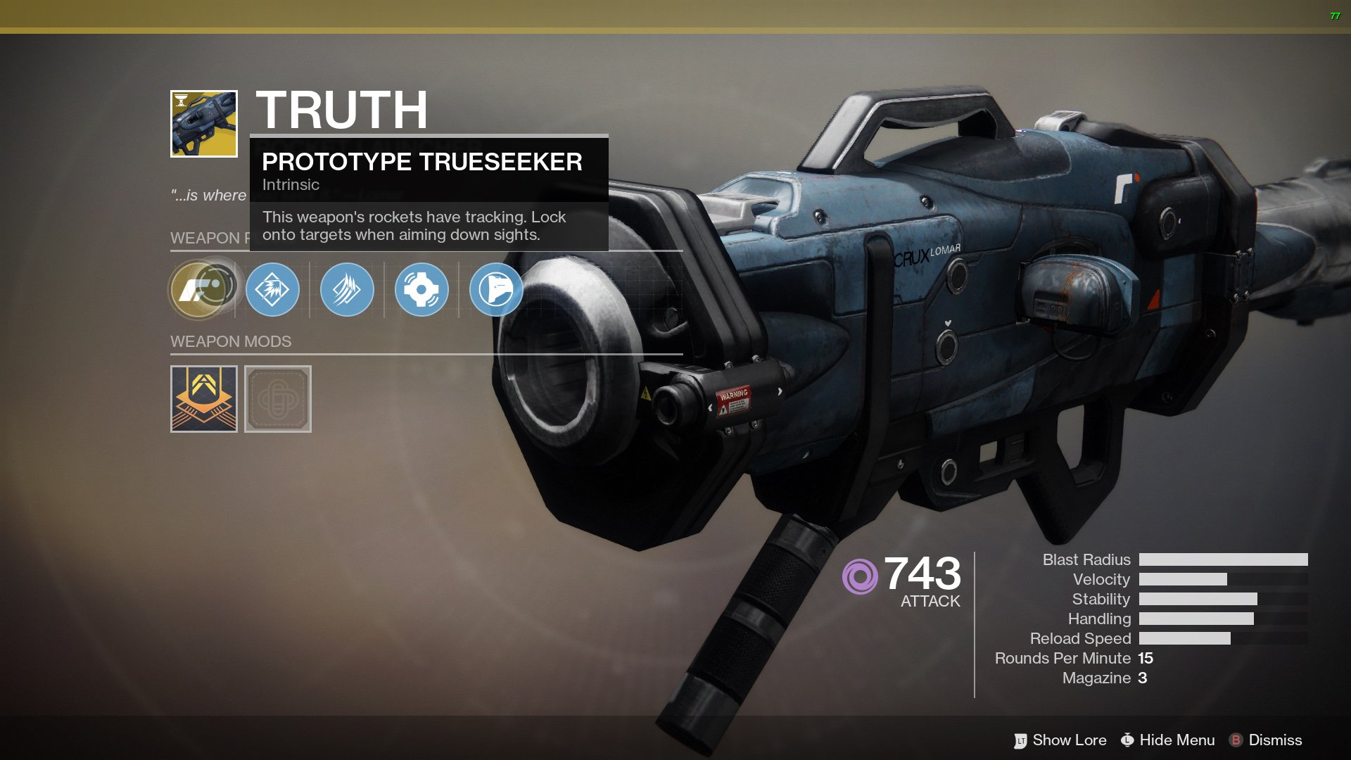 How to unlock the Truth Exotic Rocket Launcher in Destiny 2