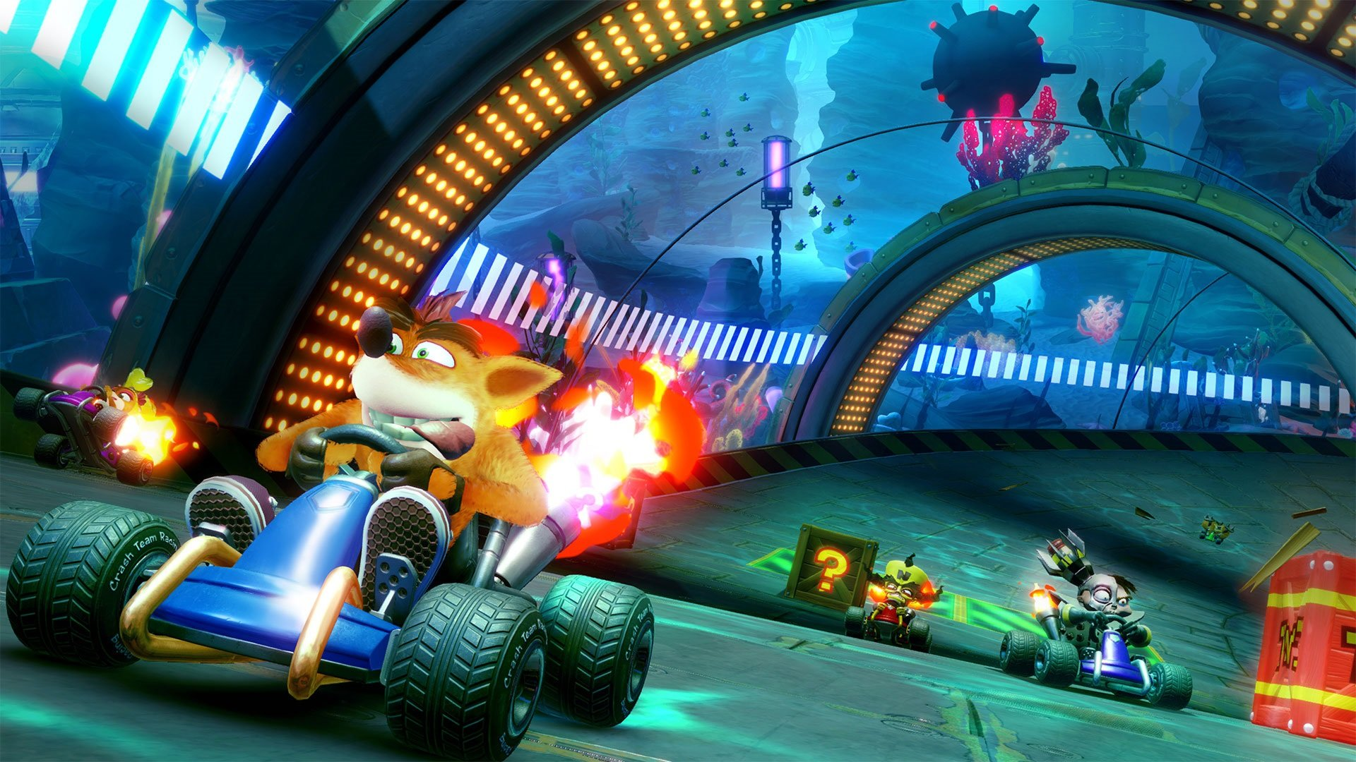 Play through Adventure Mode and defeat characters like Papu Papu to unlock them in Crash Team Racing Nitro-Fueled.