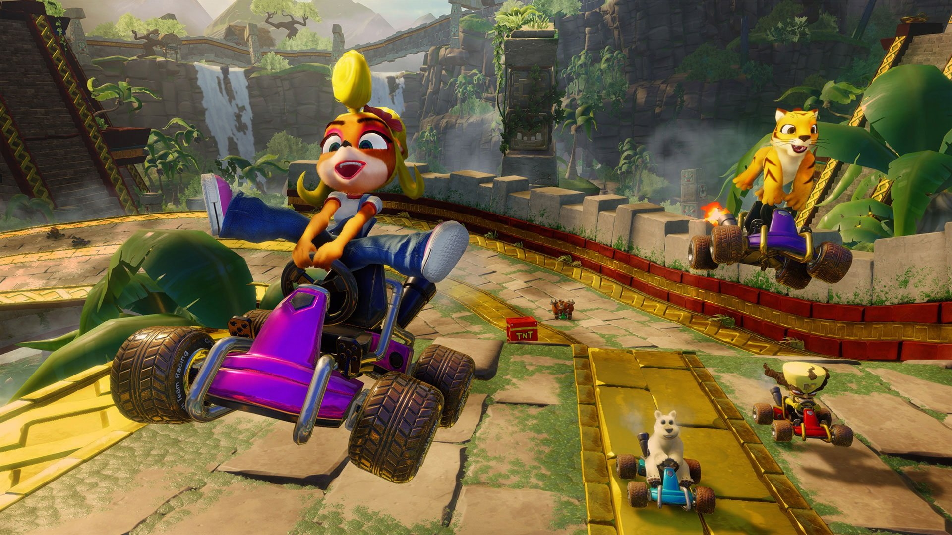 To unlock characters like Penta Penguin, you'll need to enter a special cheat code from the Main Menu of Crash Team Racing Nitro-Fueled.