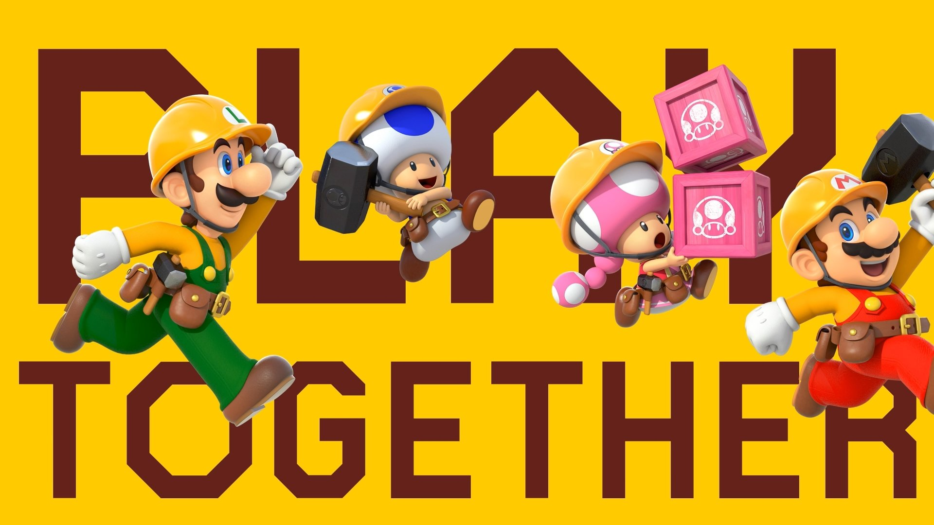 All characters in Super Mario Maker 2