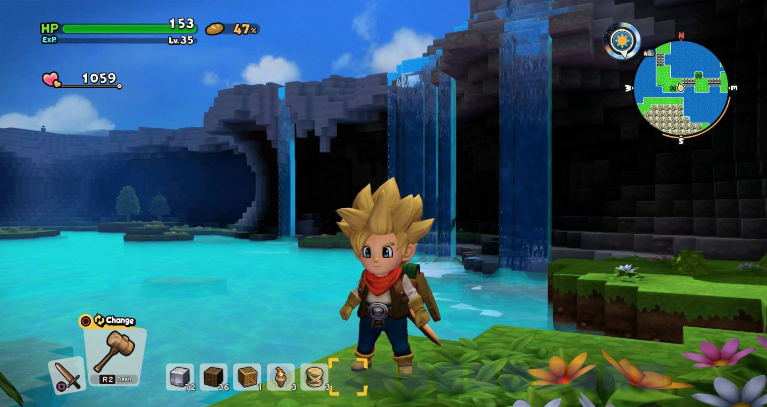 How to build a Steamy Spa in Dragon Quest Builders 2