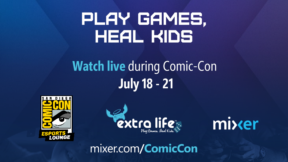 Catch livestreams for Extra Life on Mixer.