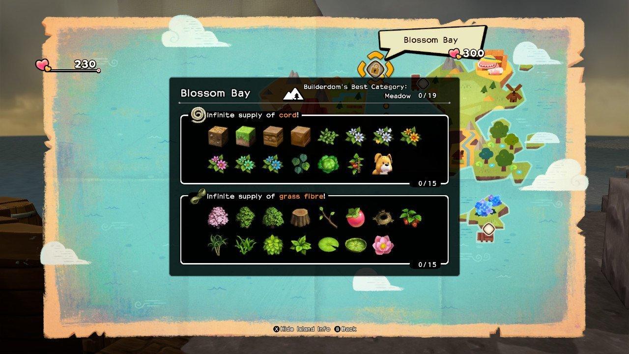 Dragon Quest Builders 2 explorers shore checklist blossom bay