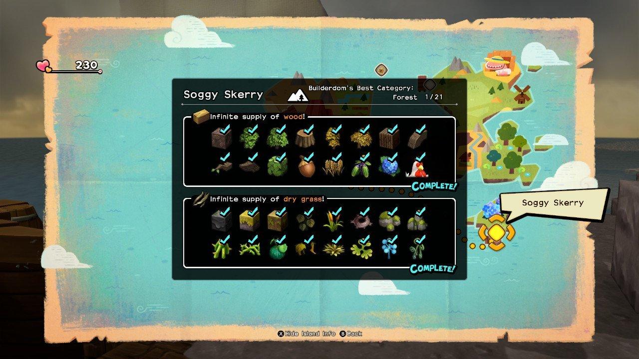 Dragon Quest Builders 2 Explorer's Shores checklist Soggy Skerry