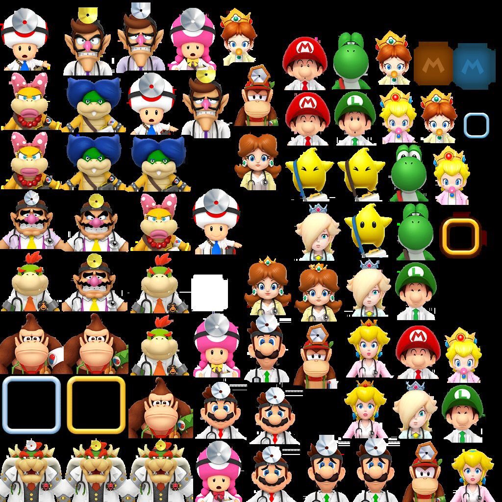 Leaked datamines characters Dr Mario World