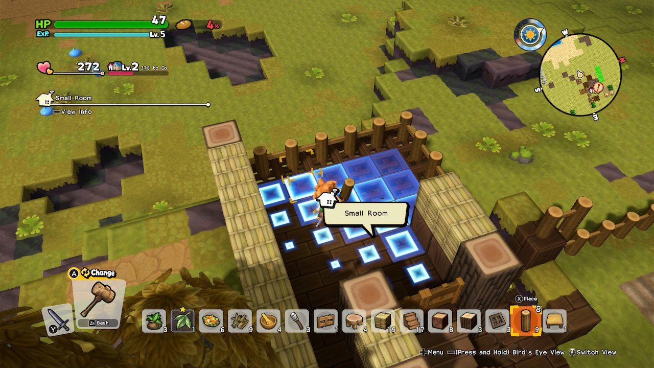 Dragon Quest Builders 2 Room Recipes small room