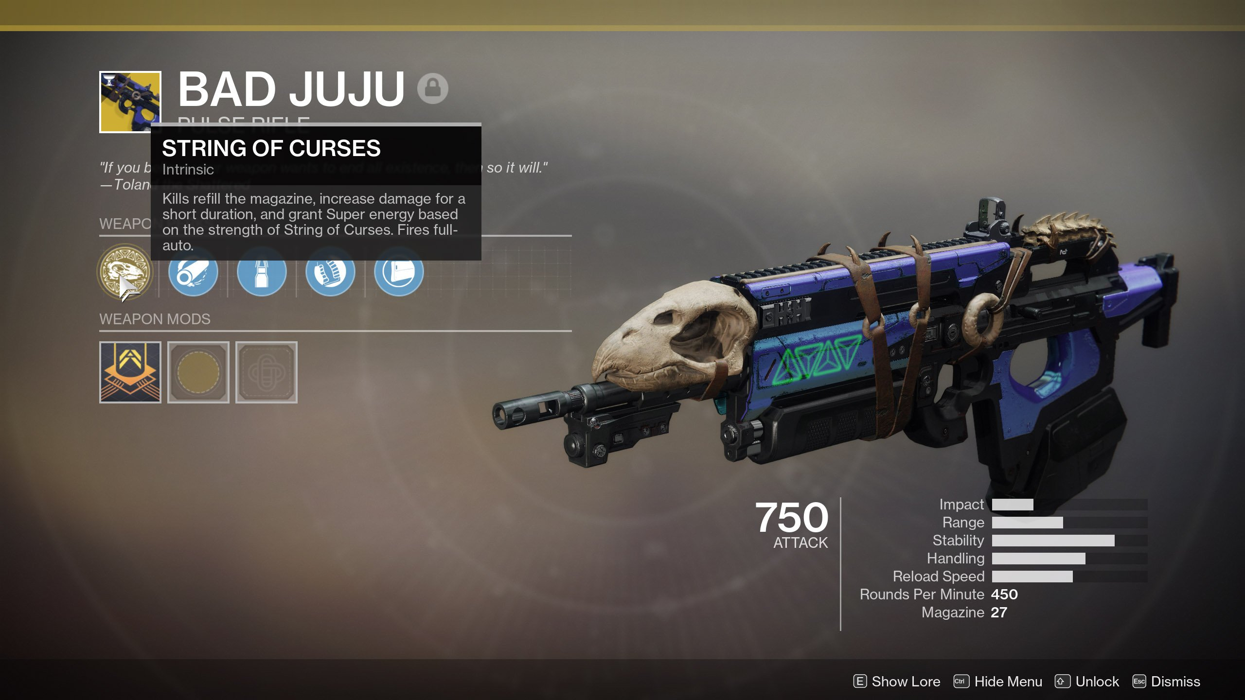 How to get the Bad JuJu Exotic Pulse Rifle in Destiny 2