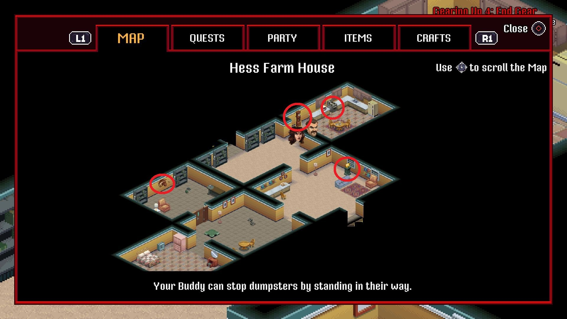 To solve the Hess Farm puzzle in Stranger Things 3: The Game, you'll need to interact with objects including a grandfather clock, moose head, and golden bear statue. © BonusXP