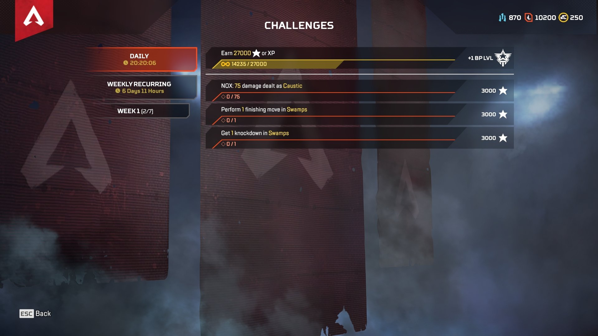How to view Battle Pass Challenges Apex Legends Season 2