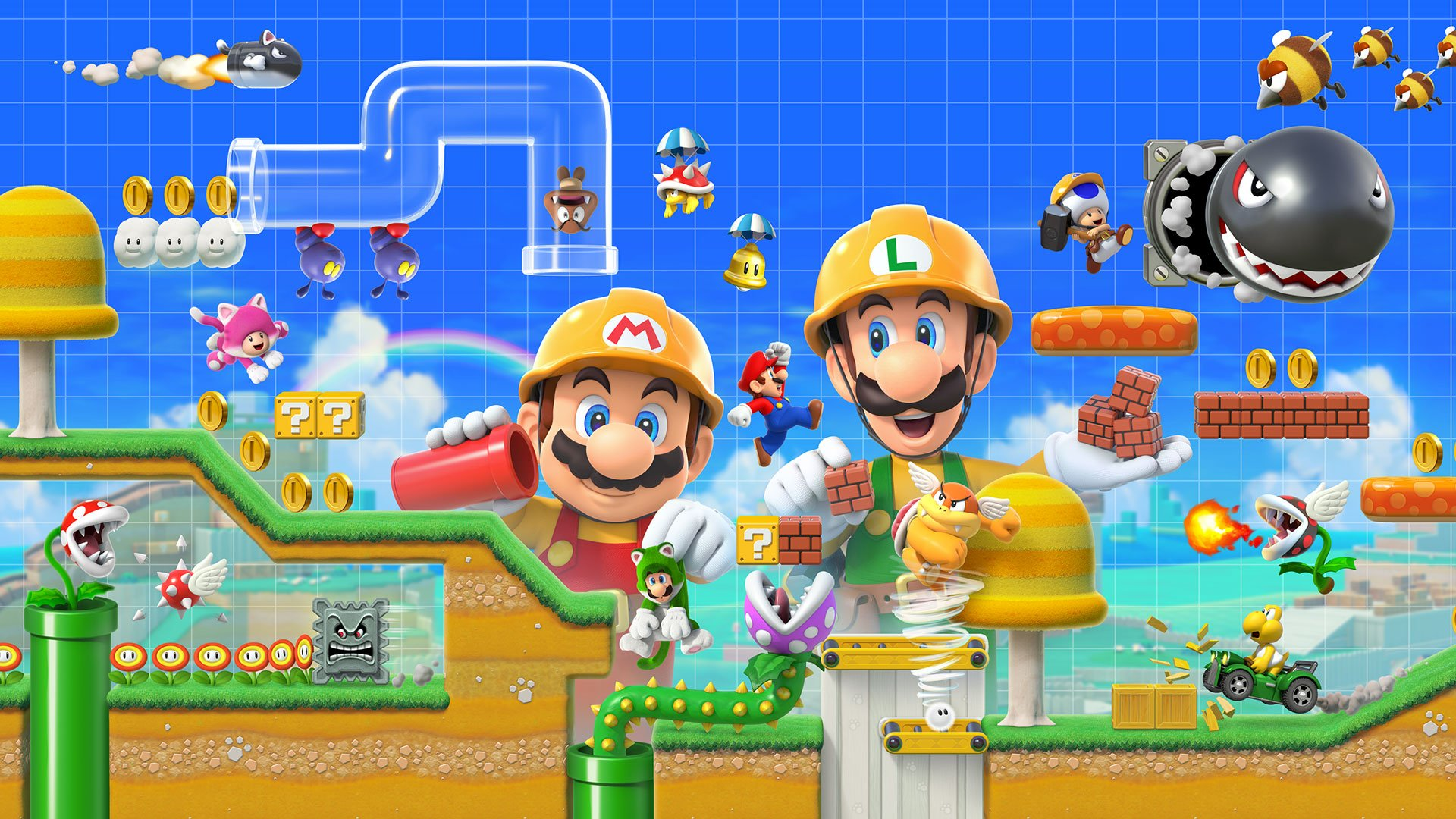 There is no amiibo support available in Super Mario Maker 2 according to Nintendo.